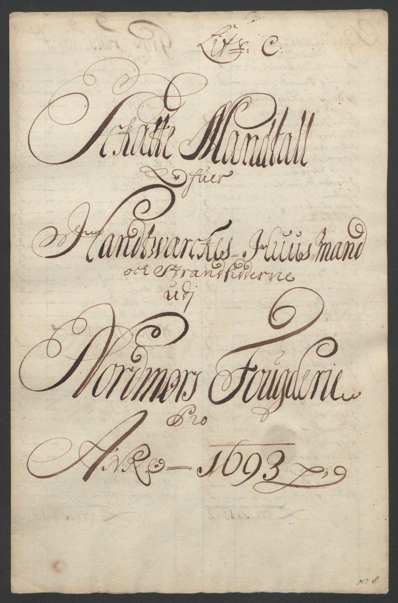 RA, Rentekammeret inntil 1814, Reviderte regnskaper, Fogderegnskap, R56/L3735: Fogderegnskap Nordmøre, 1692-1693, s. 341
