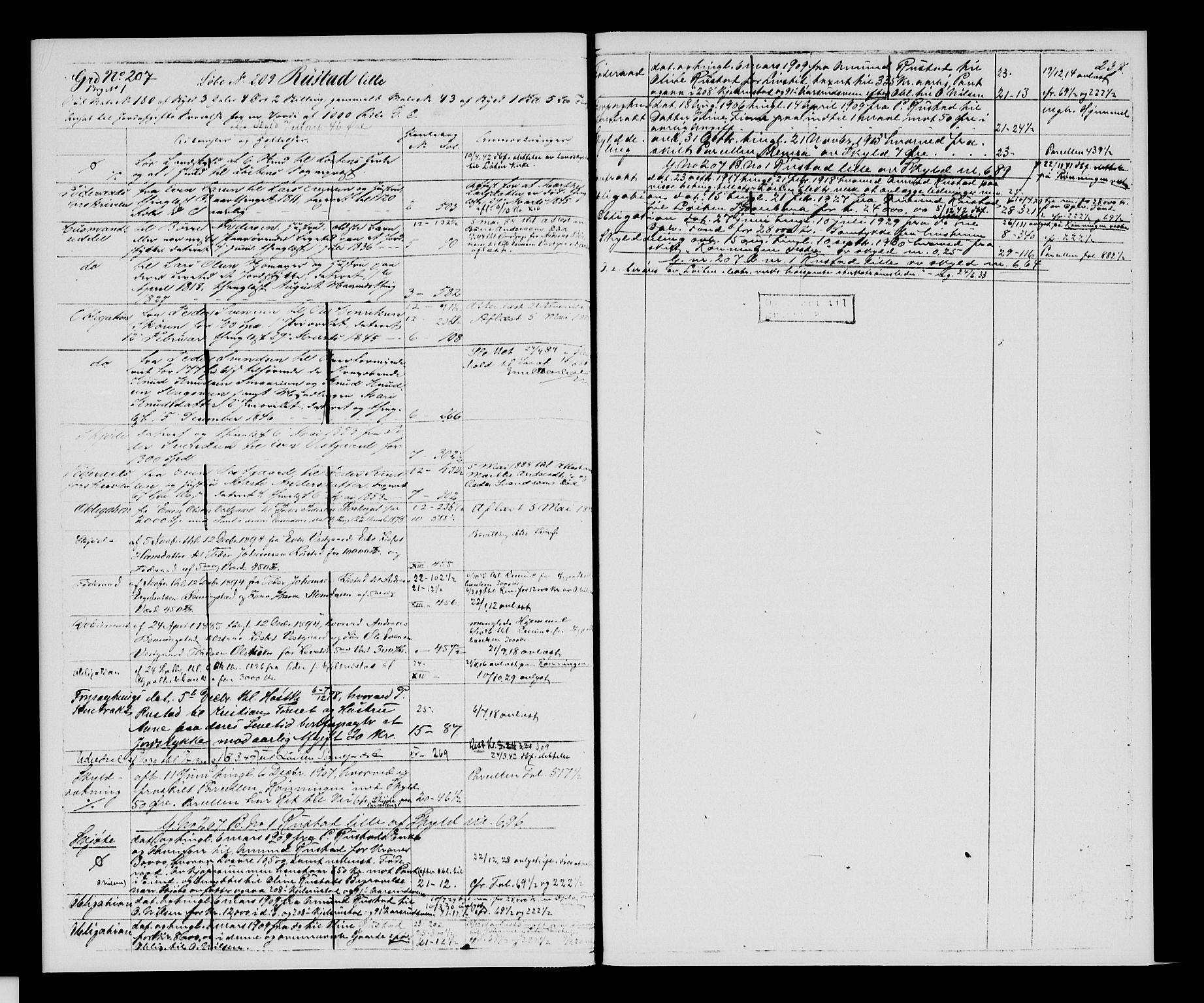 SAH, Sør-Hedmark sorenskriveri, H/Ha/Hac/Hacc/L0001: Panteregister nr. 3.1, 1855-1943, s. 237