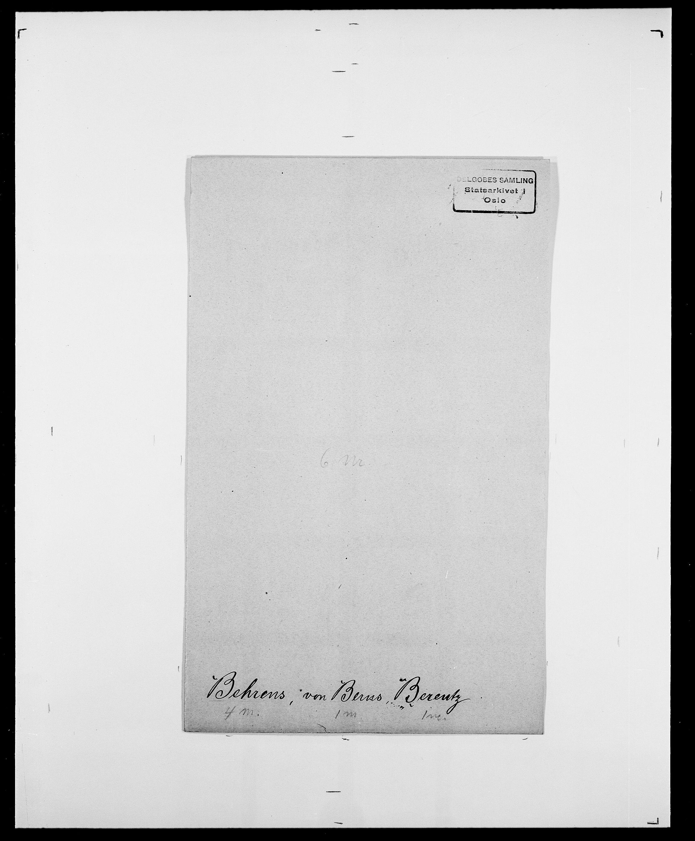 SAO, Delgobe, Charles Antoine - samling, D/Da/L0003: Barca - Bergen, s. 685