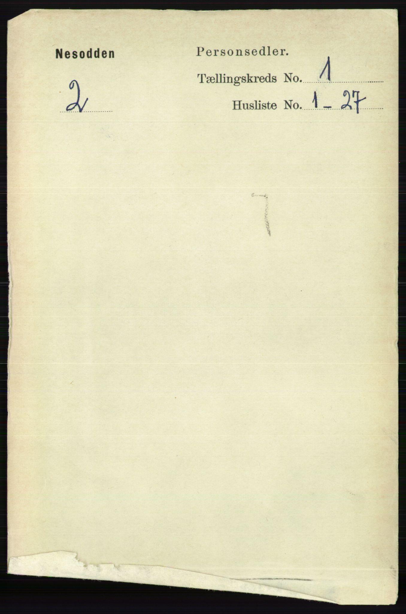 RA, Folketelling 1891 for 0216 Nesodden herred, 1891, s. 91