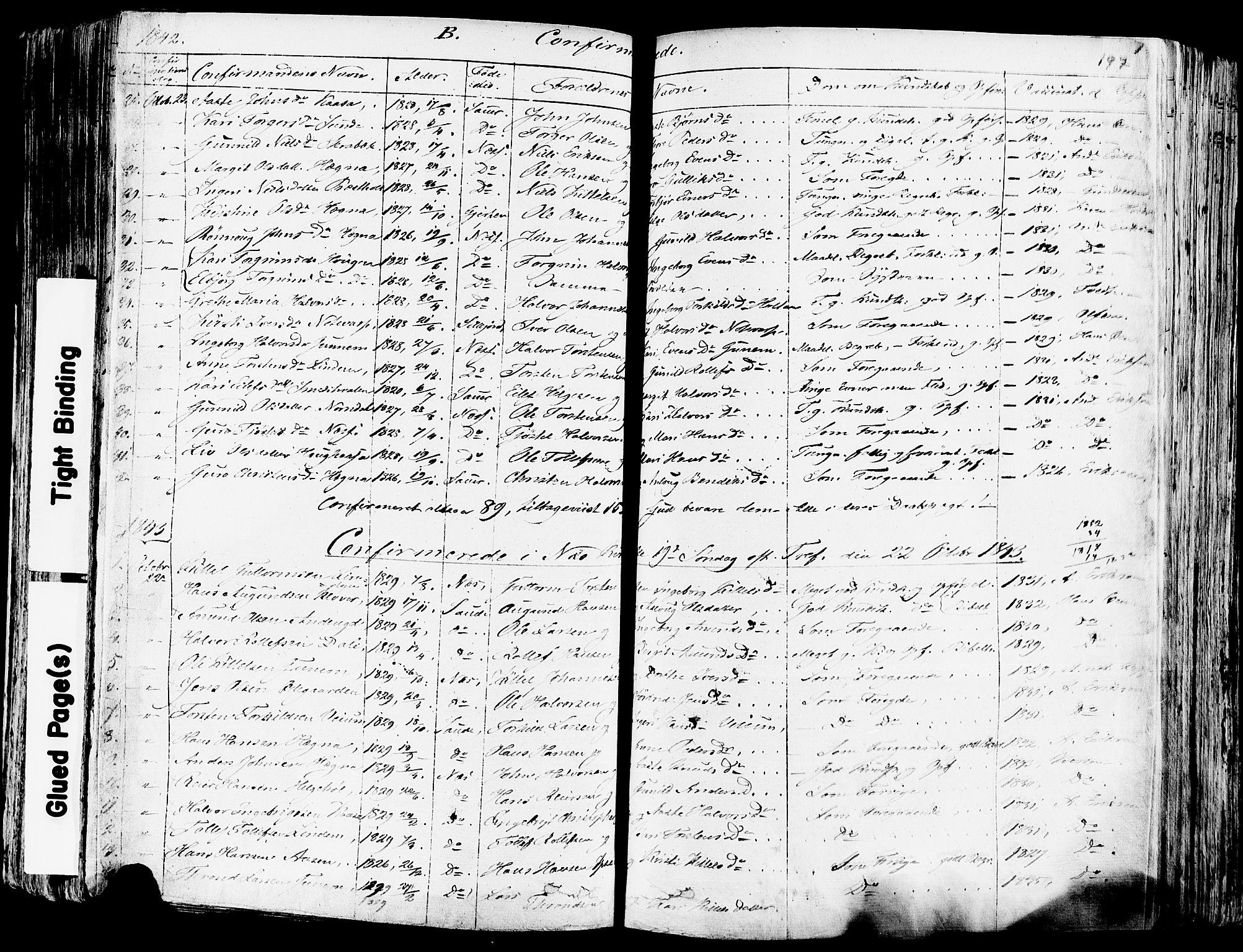 SAKO, Sauherad kirkebøker, F/Fa/L0006: Ministerialbok nr. I 6, 1827-1850, s. 197