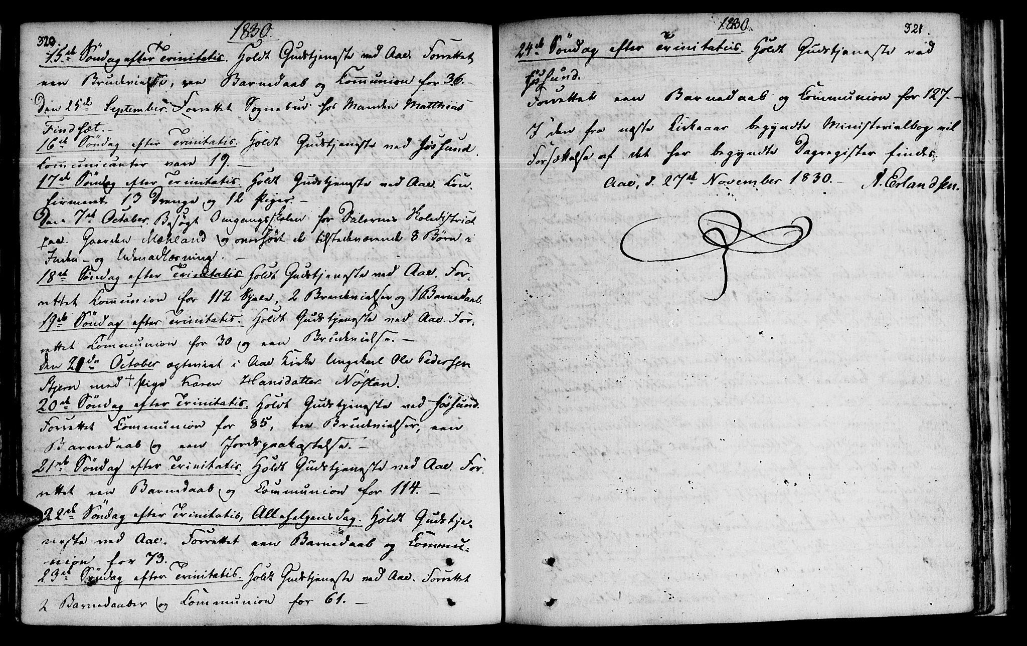 SAT, Ministerialprotokoller, klokkerbøker og fødselsregistre - Sør-Trøndelag, 655/L0674: Ministerialbok nr. 655A03, 1802-1826, s. 320-321