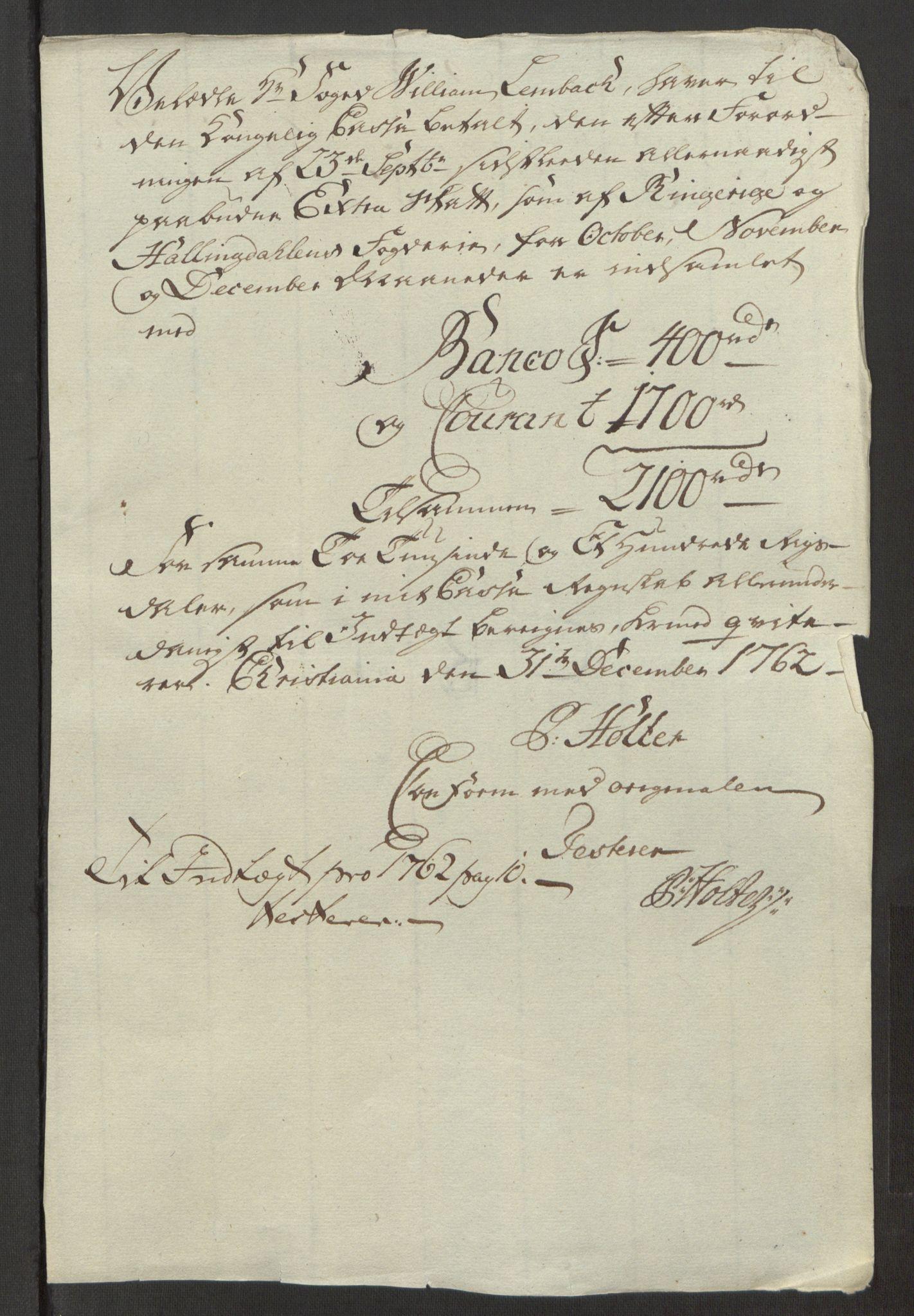 RA, Rentekammeret inntil 1814, Reviderte regnskaper, Fogderegnskap, R23/L1565: Ekstraskatten Ringerike og Hallingdal, 1762-1763, s. 329