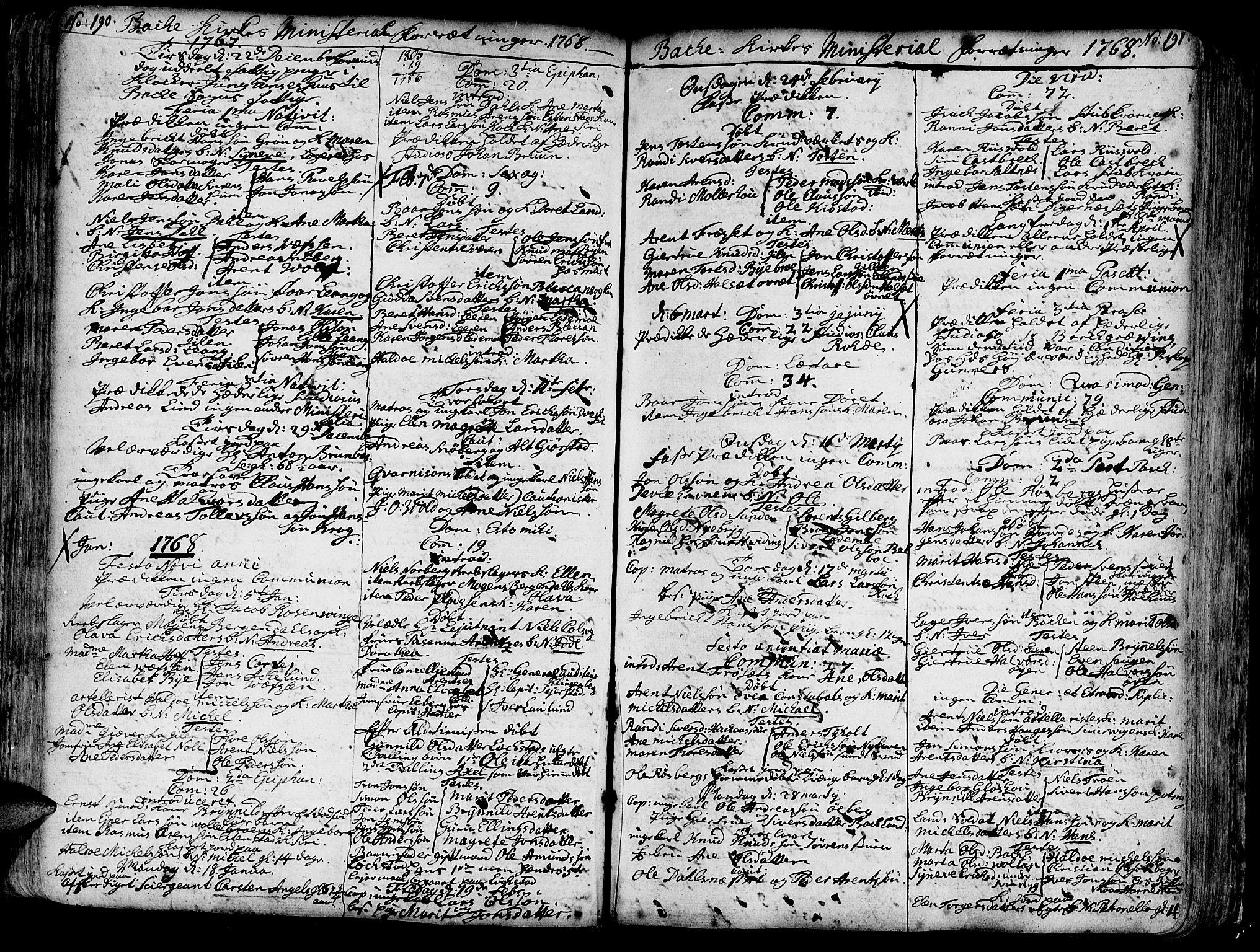 SAT, Ministerialprotokoller, klokkerbøker og fødselsregistre - Sør-Trøndelag, 606/L0276: Ministerialbok nr. 606A01 /2, 1727-1779, s. 190-191