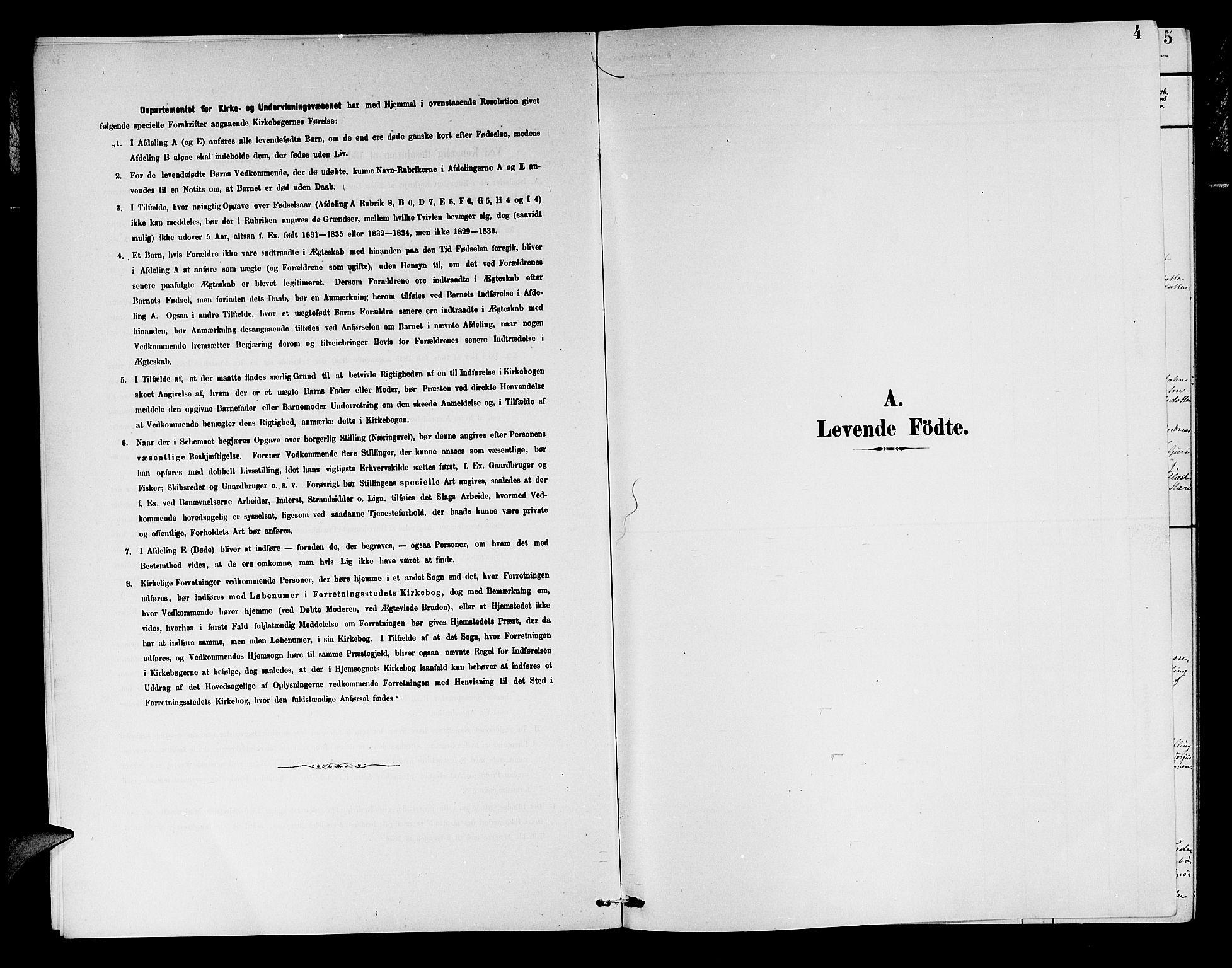 SAB, Aurland Sokneprestembete*, Klokkerbok nr. A 2, 1880-1895, s. 4