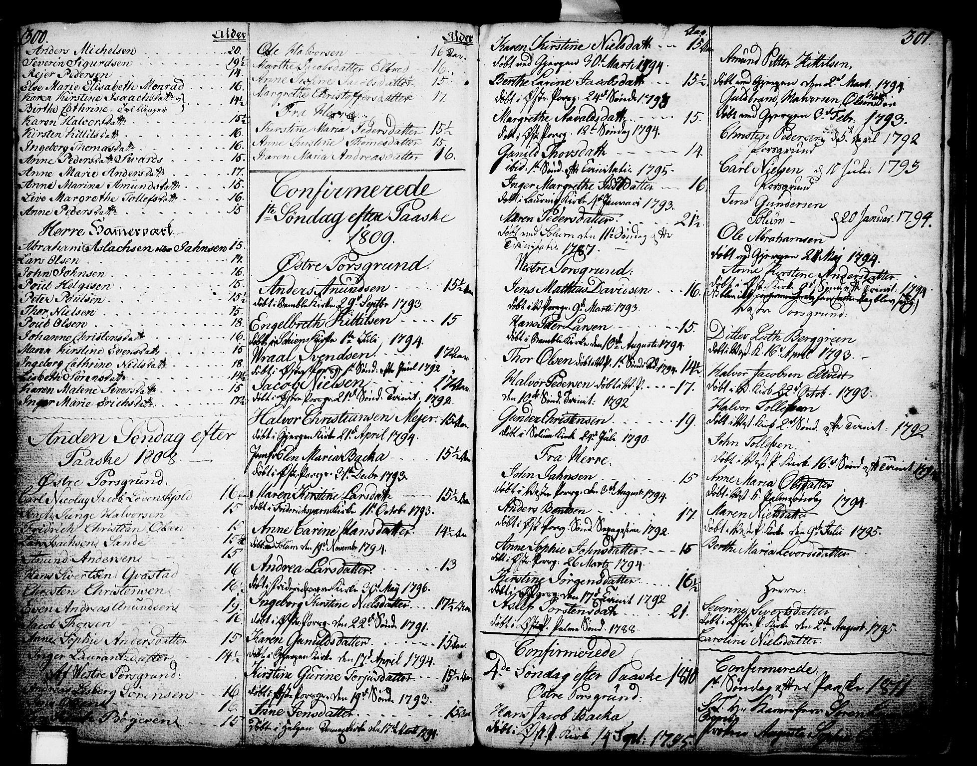 SAKO, Porsgrunn kirkebøker , F/Fa/L0002: Ministerialbok nr. 2, 1764-1814, s. 300-301