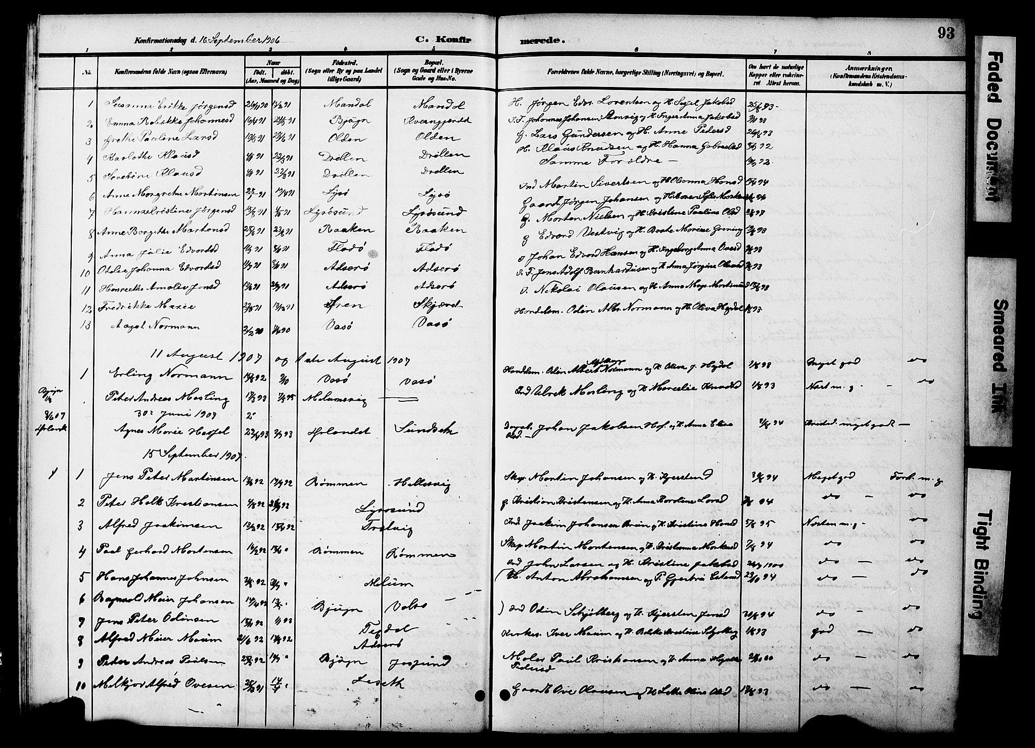 SAT, Ministerialprotokoller, klokkerbøker og fødselsregistre - Sør-Trøndelag, 654/L0666: Klokkerbok nr. 654C02, 1901-1925, s. 93