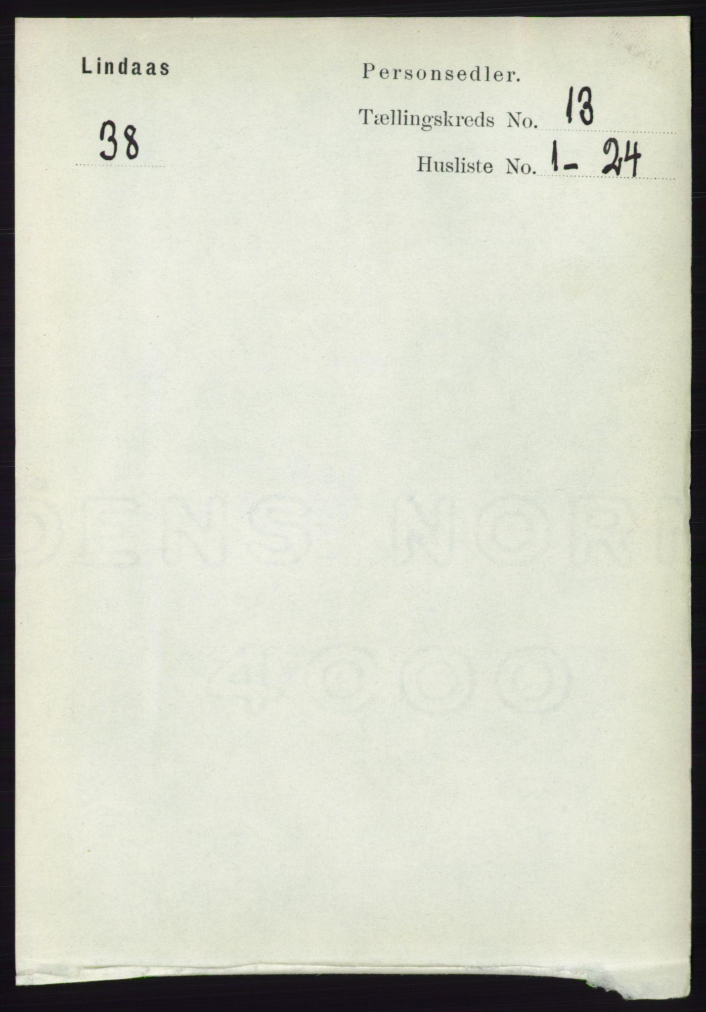RA, Folketelling 1891 for 1263 Lindås herred, 1891, s. 4541