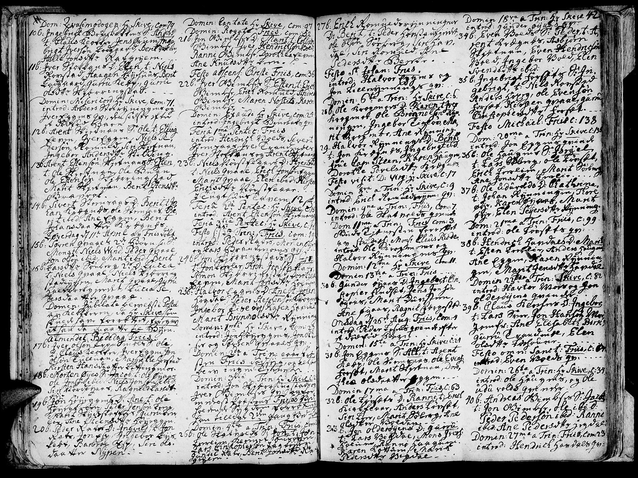 SAT, Ministerialprotokoller, klokkerbøker og fødselsregistre - Sør-Trøndelag, 691/L1057: Ministerialbok nr. 691A01 /1, 1740-1767, s. 42