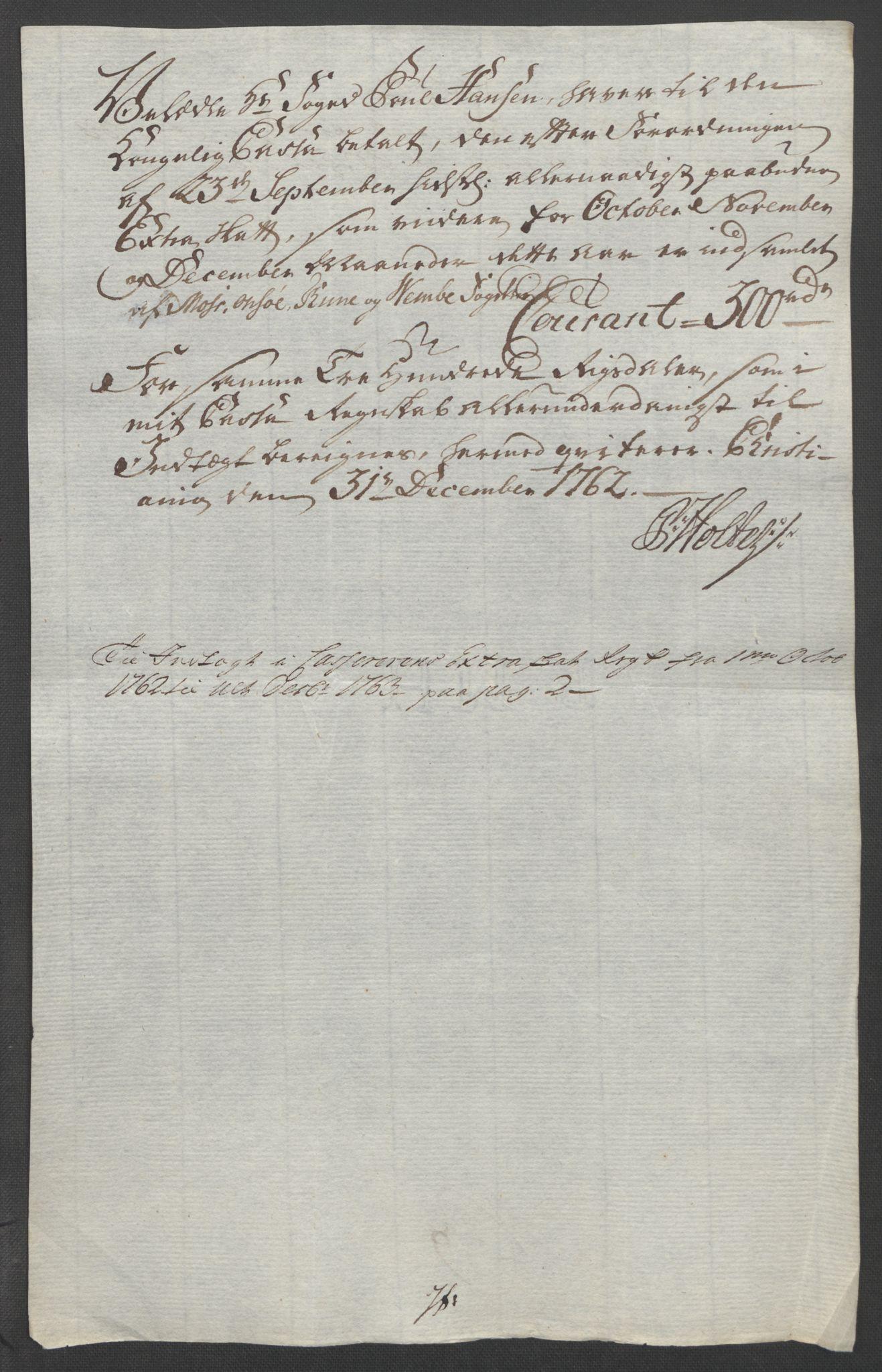 RA, Rentekammeret inntil 1814, Reviderte regnskaper, Fogderegnskap, R04/L0261: Ekstraskatten Moss, Onsøy, Tune, Veme og Åbygge, 1763, s. 334