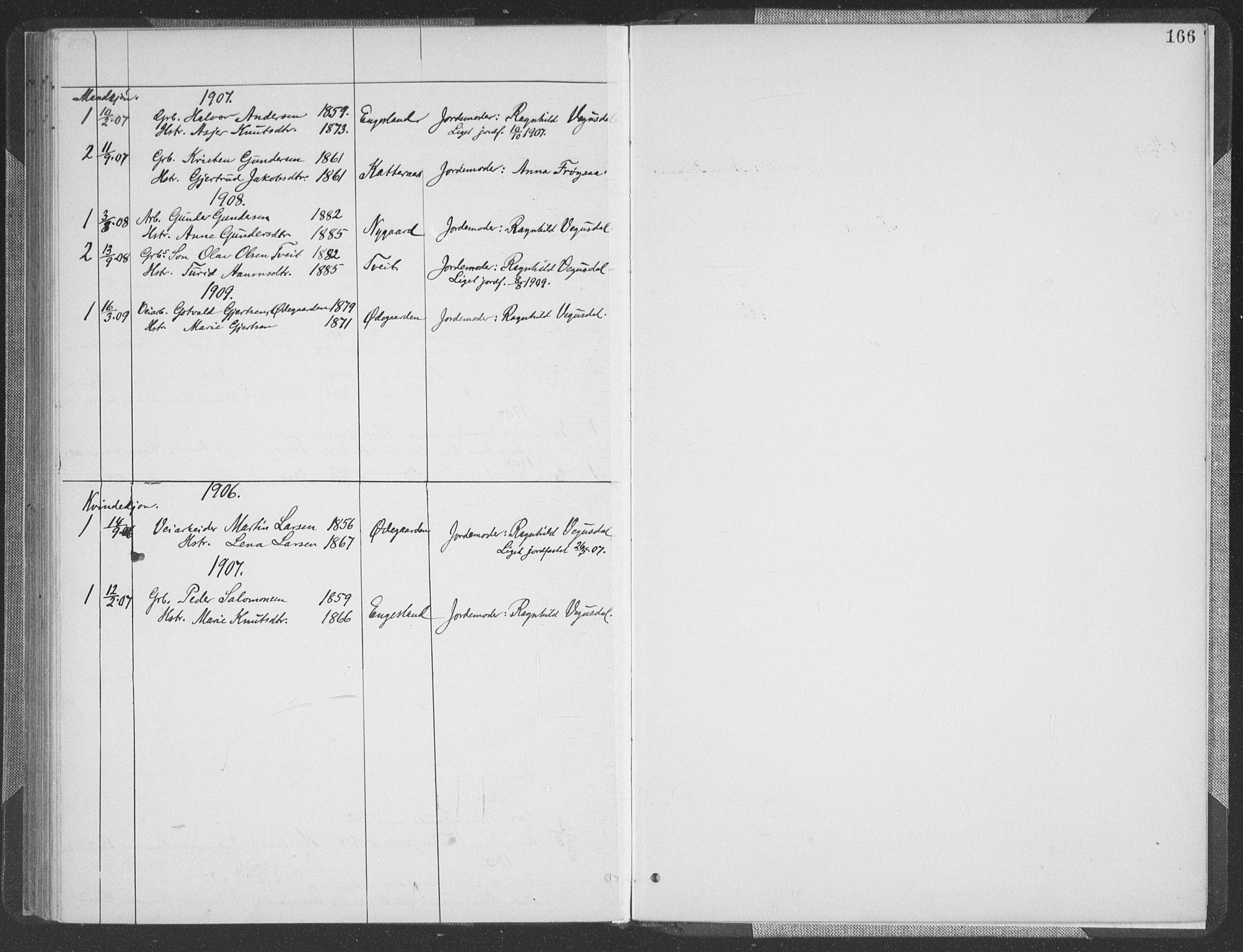 SAK, Herefoss sokneprestkontor, F/Fa/Fab/L0004: Ministerialbok nr. A 4, 1887-1909, s. 166