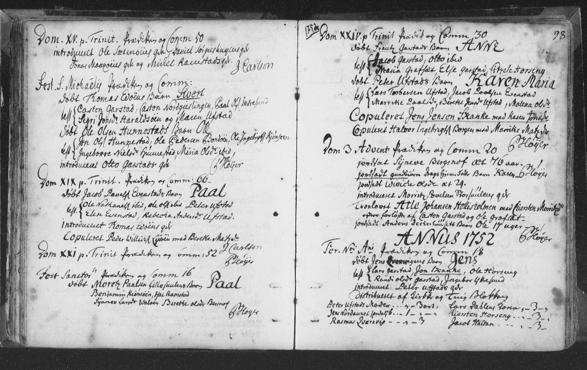 SAT, Ministerialprotokoller, klokkerbøker og fødselsregistre - Nord-Trøndelag, 786/L0685: Ministerialbok nr. 786A01, 1710-1798, s. 98