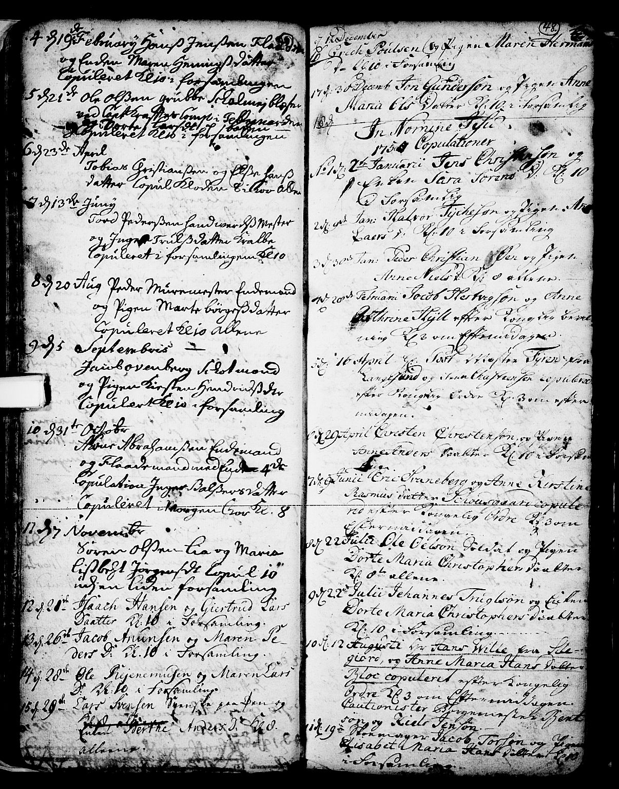 SAKO, Skien kirkebøker, F/Fa/L0002: Ministerialbok nr. 2, 1716-1757, s. 48