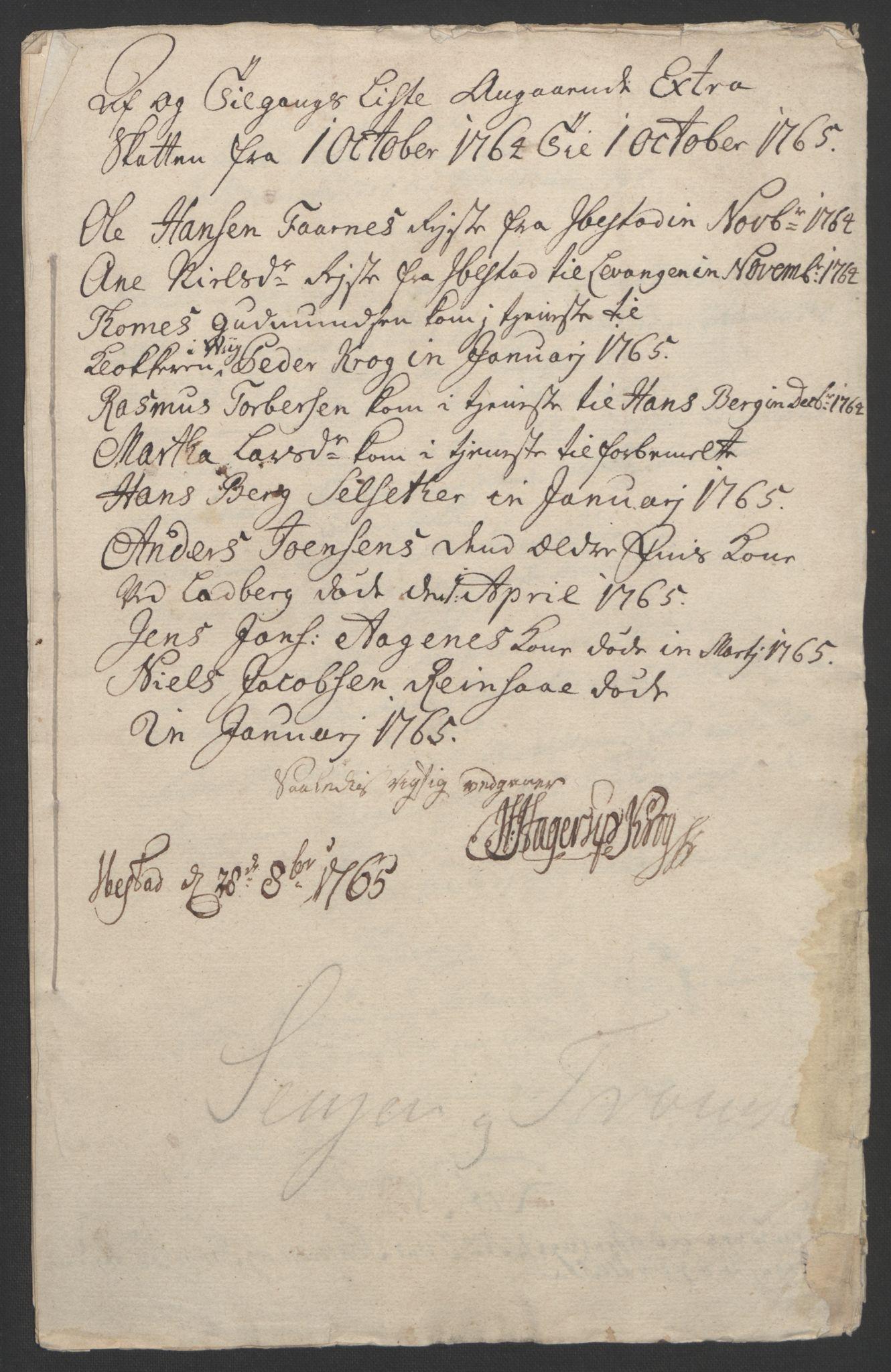 RA, Rentekammeret inntil 1814, Realistisk ordnet avdeling, Ol/L0022b: [Gg 10]: Ekstraskatten, 23.09.1762. Senja og Troms, 1765-1768, s. 111