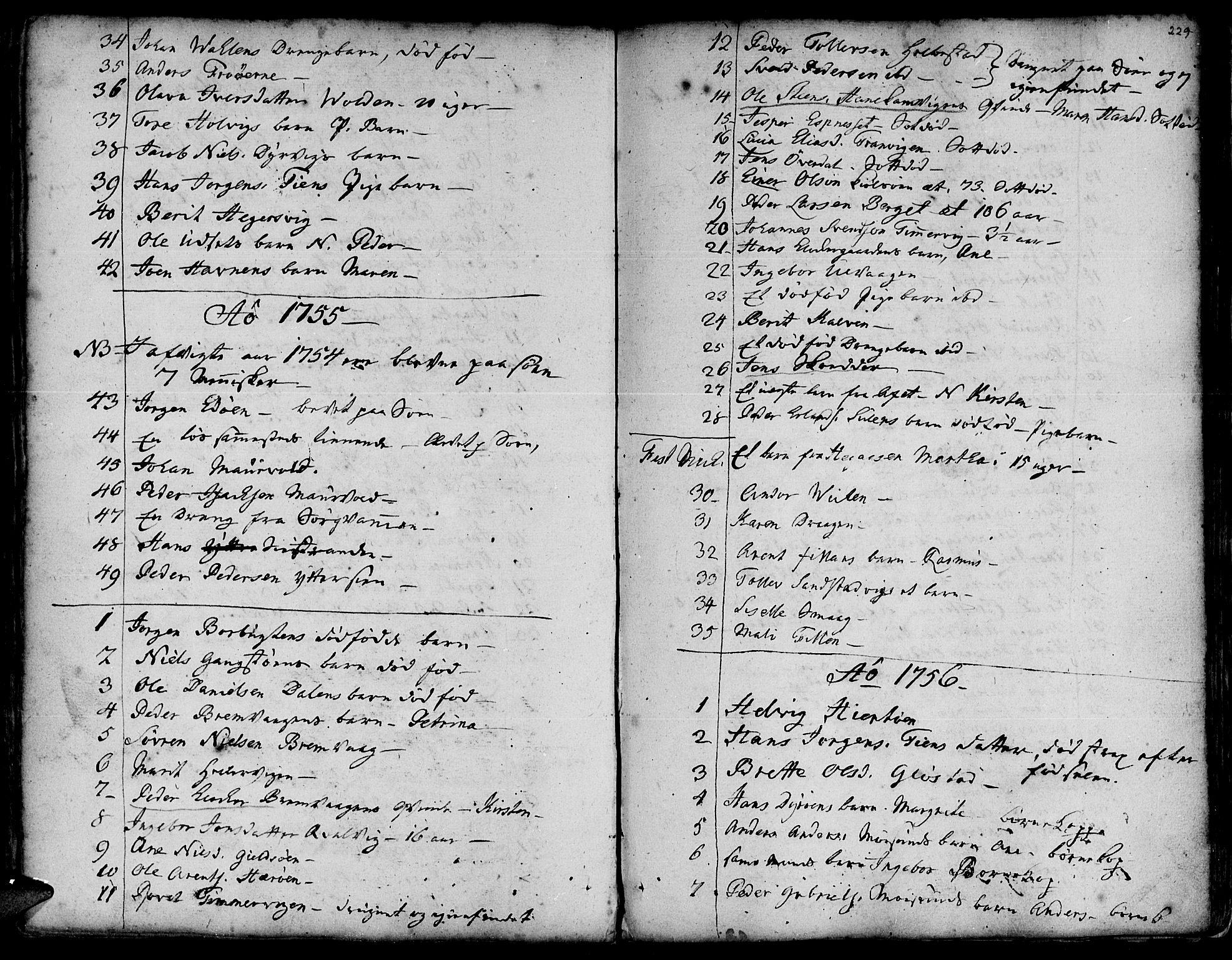 SAT, Ministerialprotokoller, klokkerbøker og fødselsregistre - Sør-Trøndelag, 634/L0525: Ministerialbok nr. 634A01, 1736-1775, s. 229