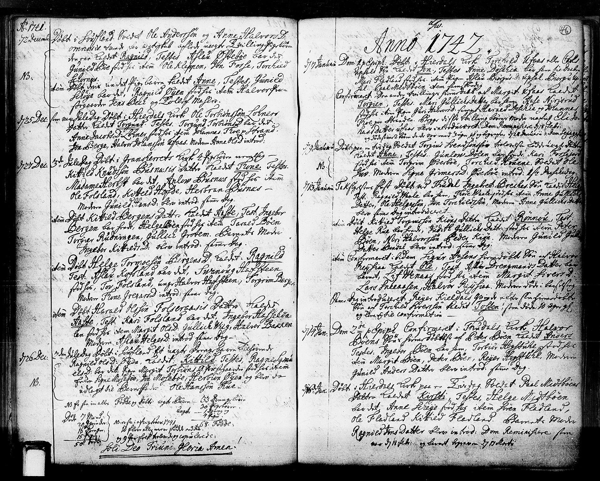 SAKO, Hjartdal kirkebøker, F/Fa/L0003: Ministerialbok nr. I 3, 1727-1775, s. 46