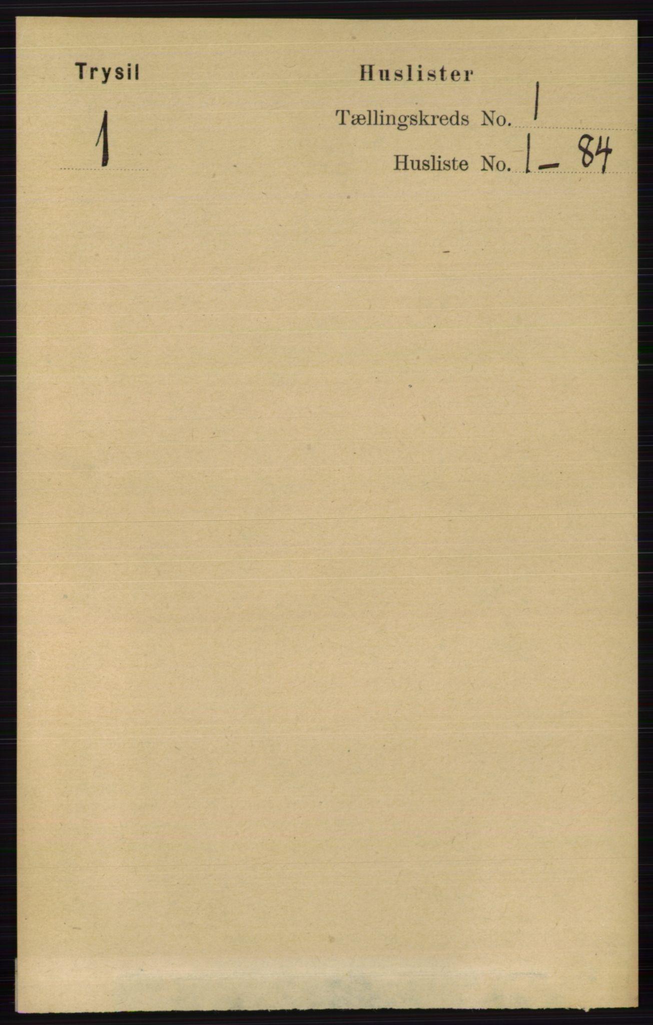 RA, Folketelling 1891 for 0428 Trysil herred, 1891, s. 31