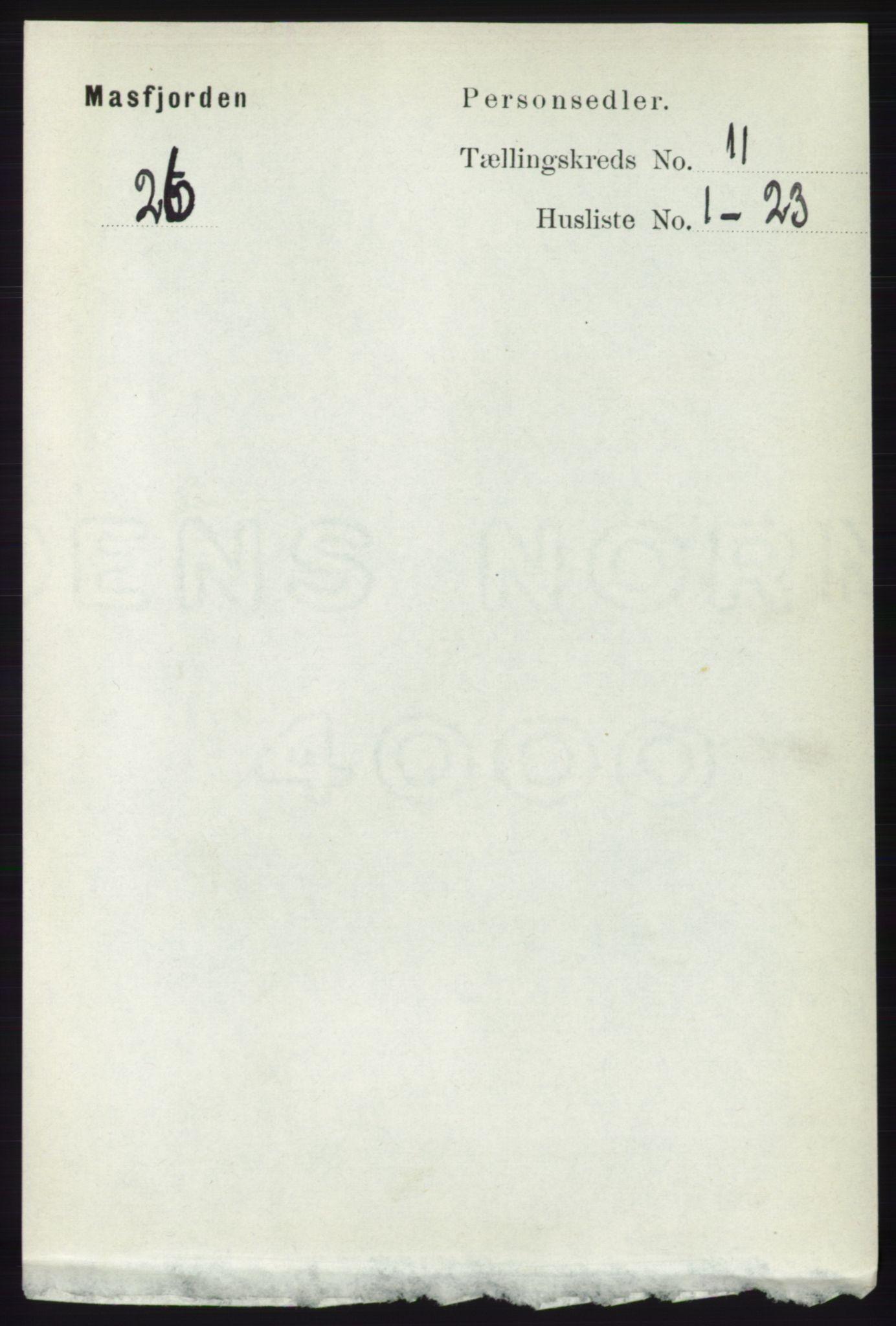 RA, Folketelling 1891 for 1266 Masfjorden herred, 1891, s. 2266