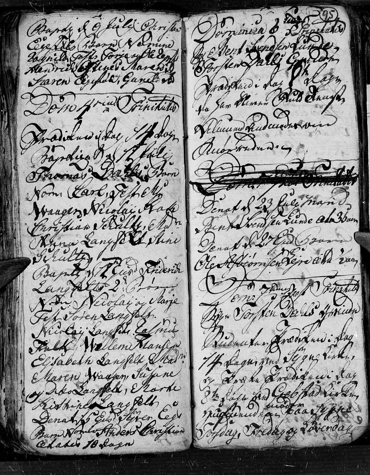 SAK, Søgne sokneprestkontor, F/Fb/Fbb/L0001: Klokkerbok nr. B 1, 1779-1802, s. 95