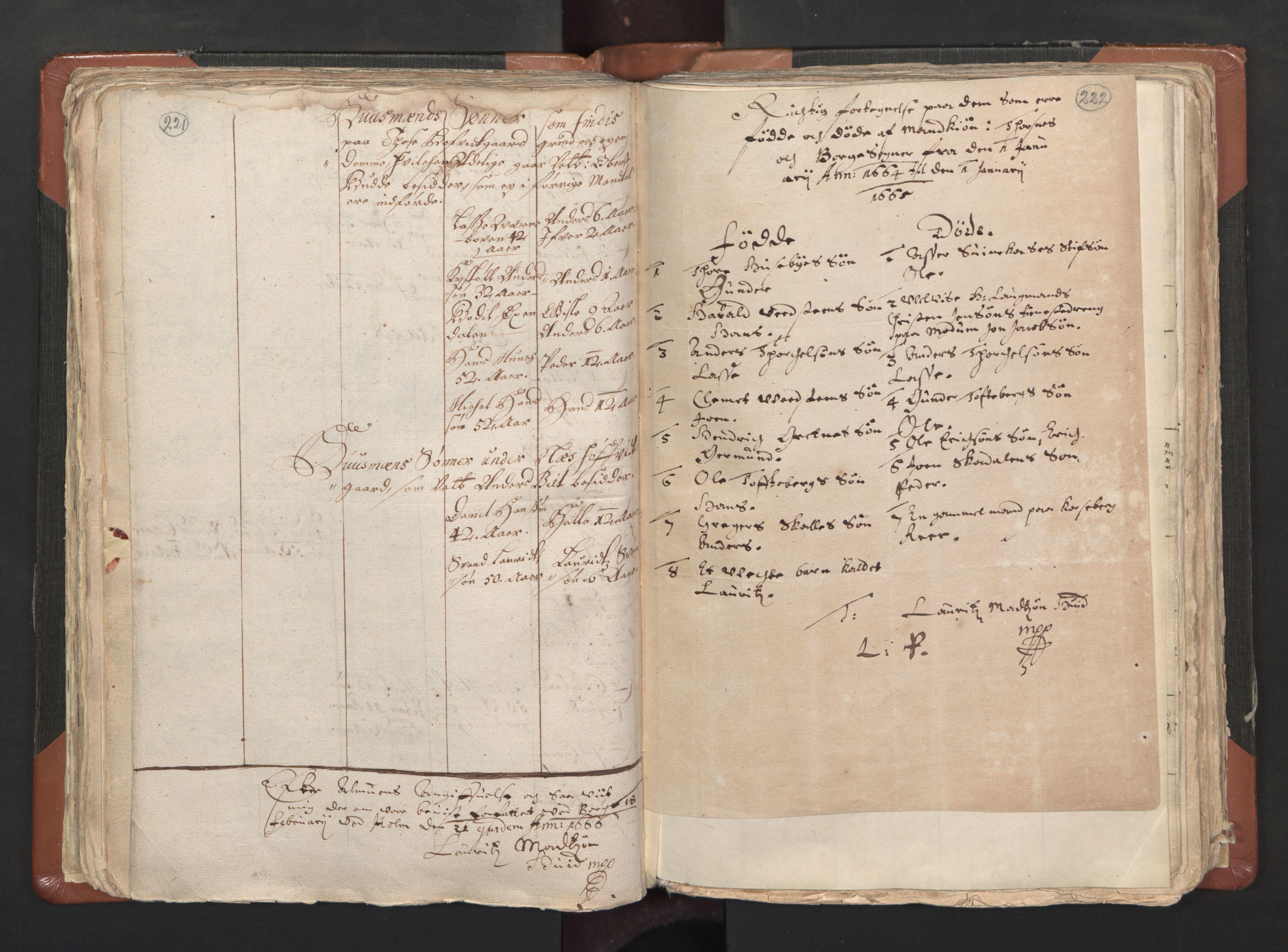 RA, Sogneprestenes manntall 1664-1666, nr. 1: Nedre Borgesyssel prosti, 1664-1666, s. 221-222