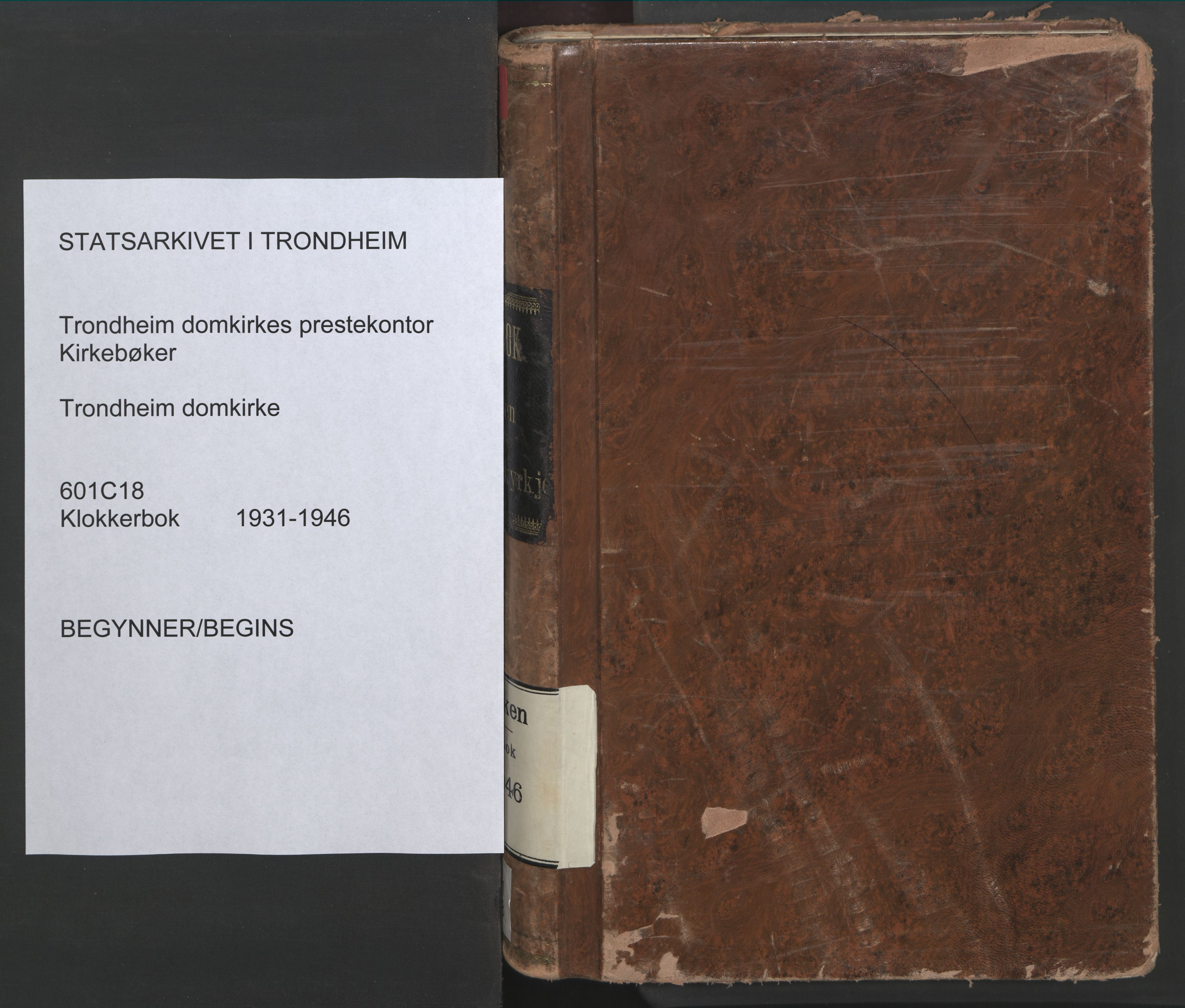 SAT, Ministerialprotokoller, klokkerbøker og fødselsregistre - Sør-Trøndelag, 601/L0100: Klokkerbok nr. 601C18, 1931-1946