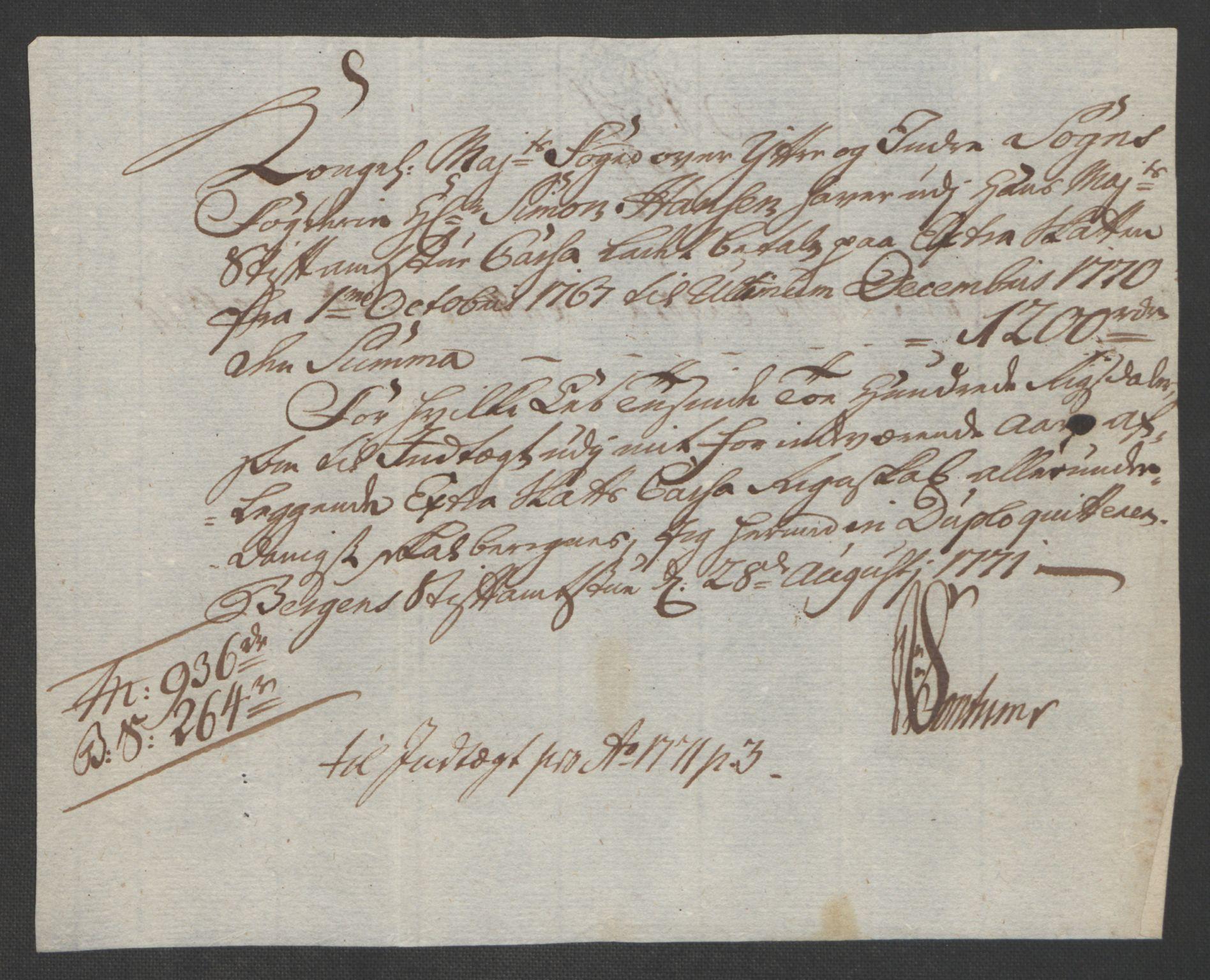 RA, Rentekammeret inntil 1814, Realistisk ordnet avdeling, Ol/L0018: [Gg 10]: Ekstraskatten, 23.09.1762. Sogn, 1762-1772, s. 354