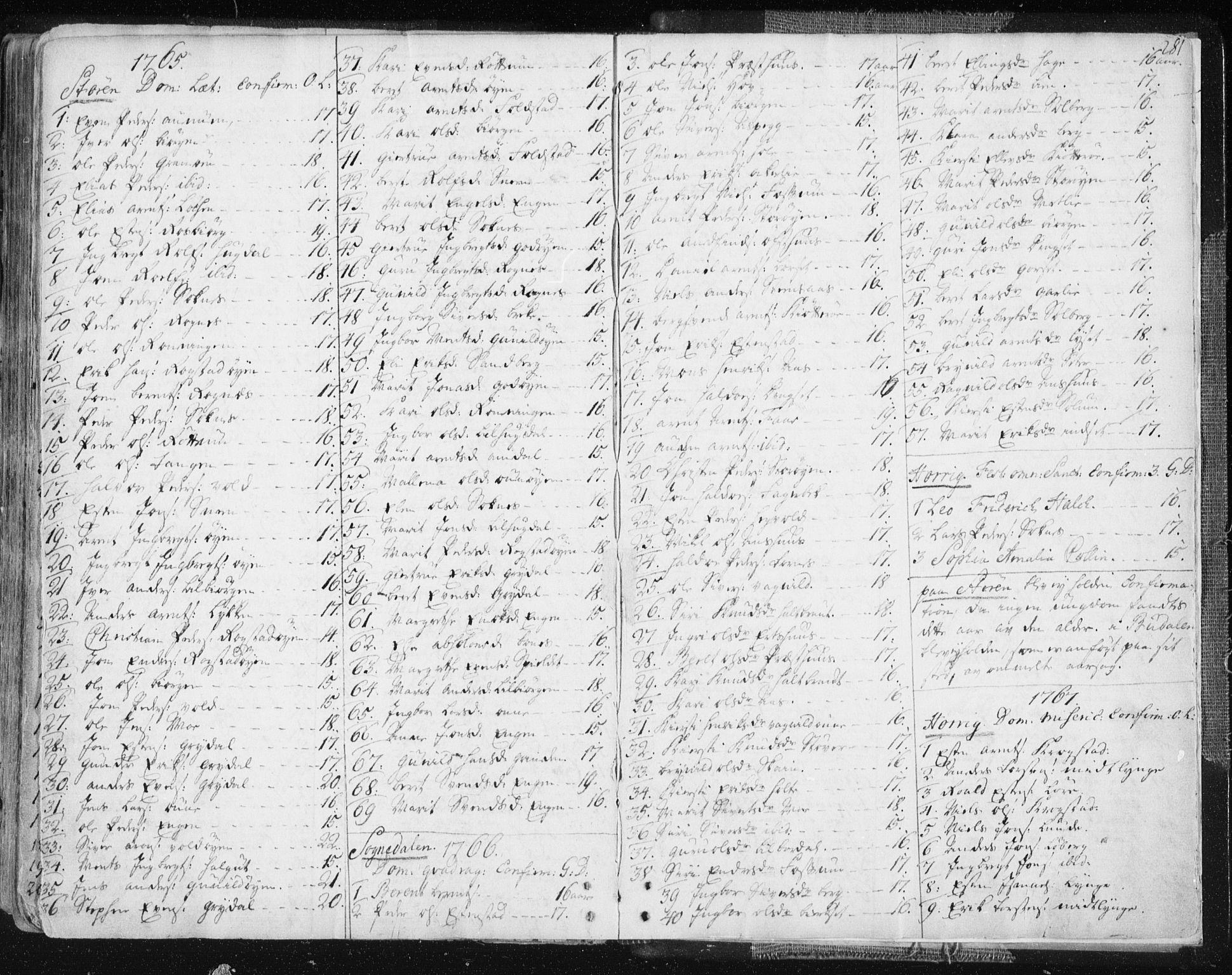 SAT, Ministerialprotokoller, klokkerbøker og fødselsregistre - Sør-Trøndelag, 687/L0991: Ministerialbok nr. 687A02, 1747-1790, s. 281
