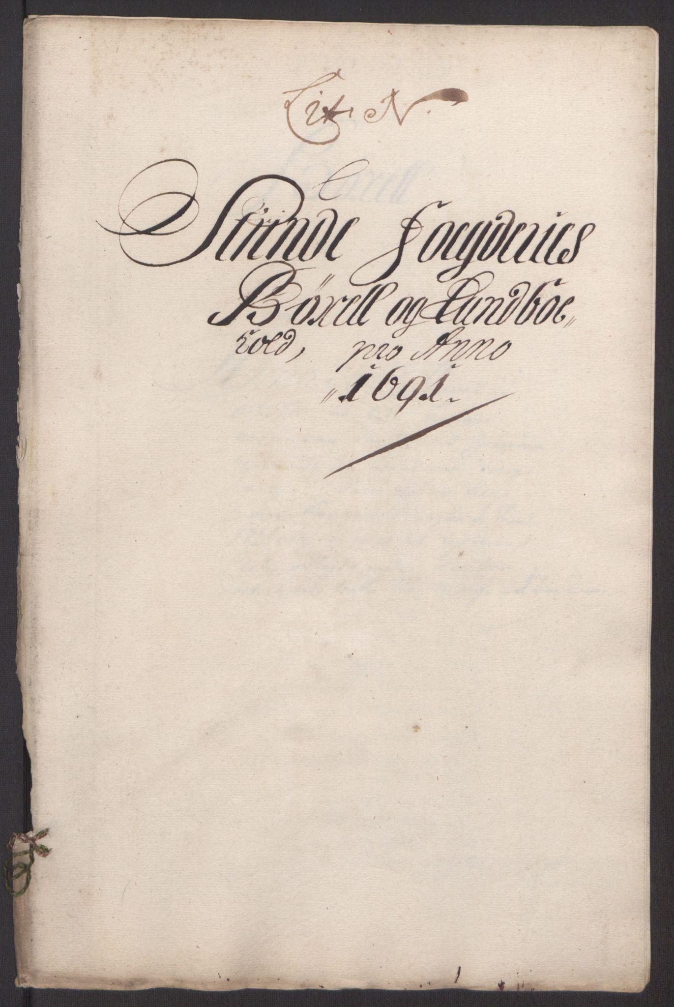 RA, Rentekammeret inntil 1814, Reviderte regnskaper, Fogderegnskap, R61/L4103: Fogderegnskap Strinda og Selbu, 1691-1692, s. 133