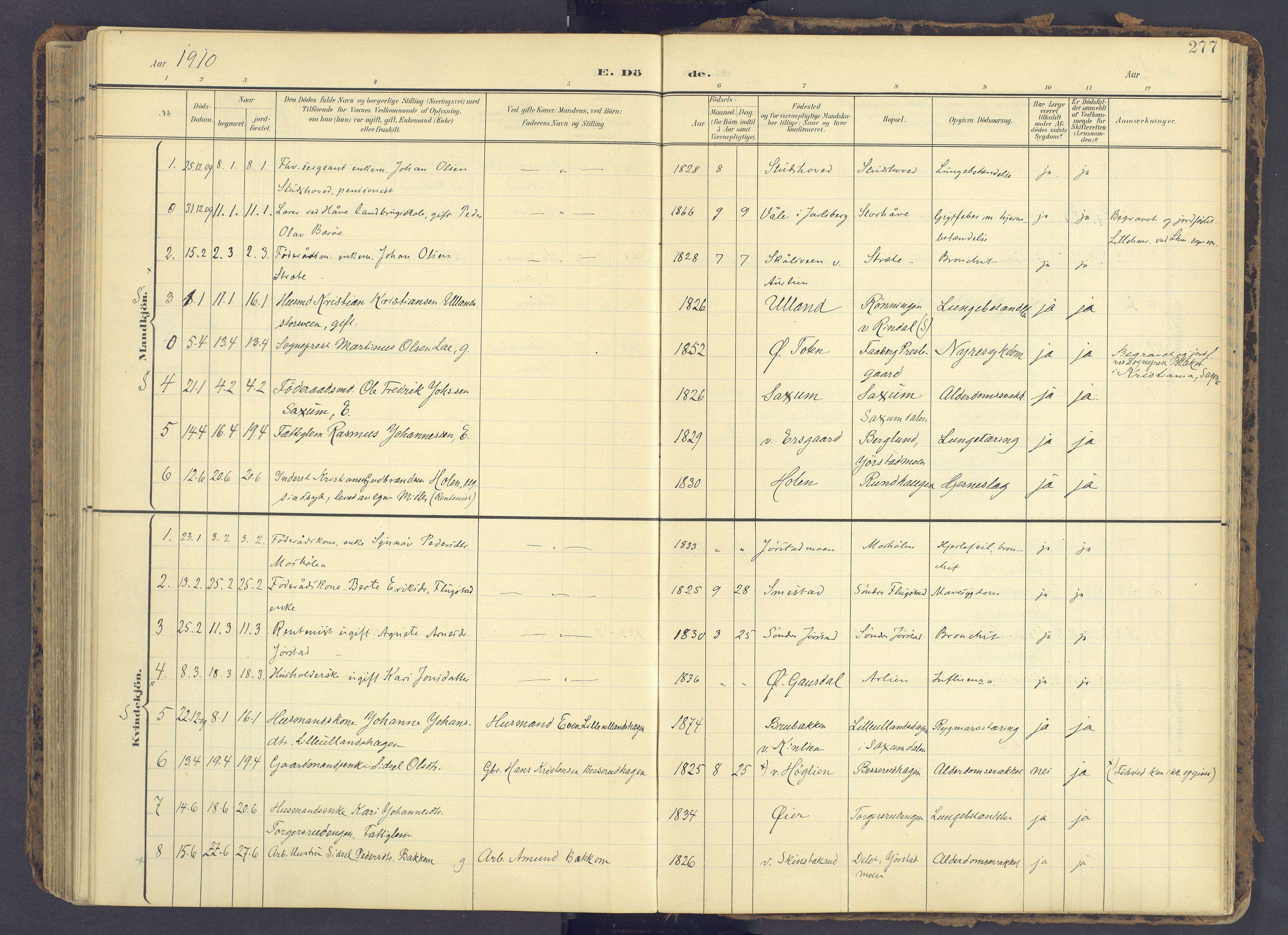 SAH, Fåberg prestekontor, Ministerialbok nr. 12, 1899-1915, s. 277