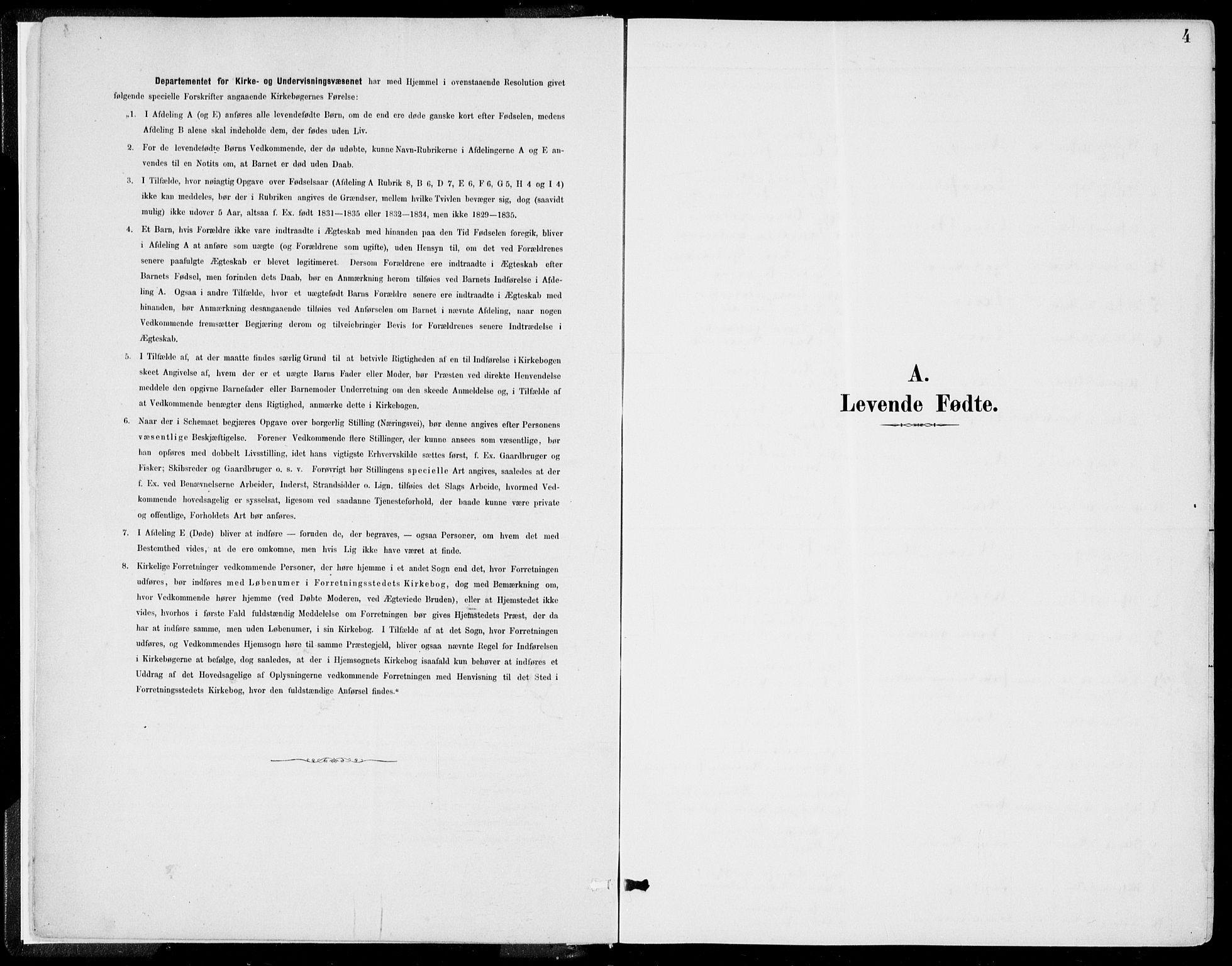 SAB, Kvinnherad Sokneprestembete, H/Haa: Ministerialbok nr. B  1, 1887-1921, s. 4