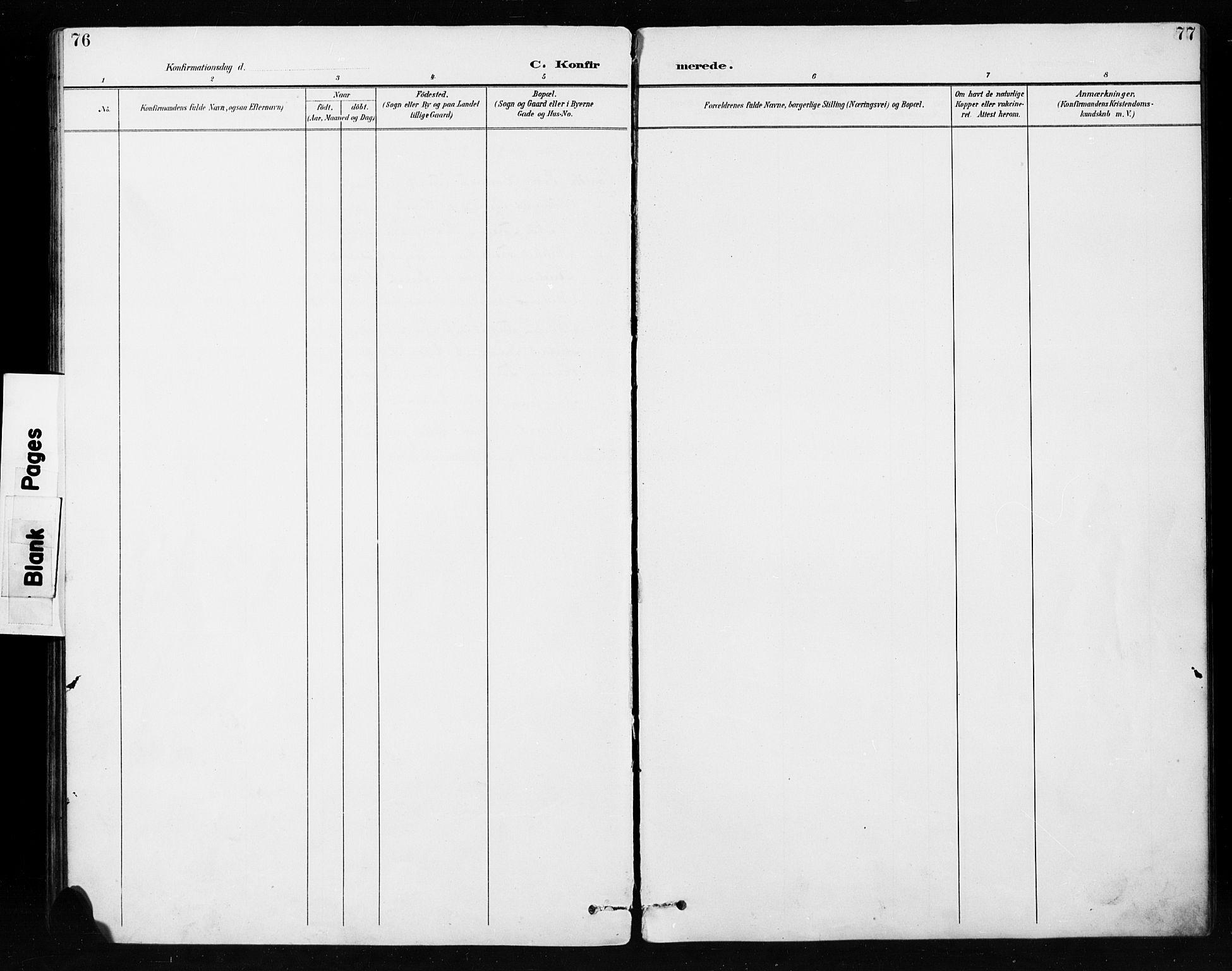 SAH, Etnedal prestekontor, H/Ha/Hab/Habb/L0001: Klokkerbok nr. II 1, 1894-1911, s. 76-77