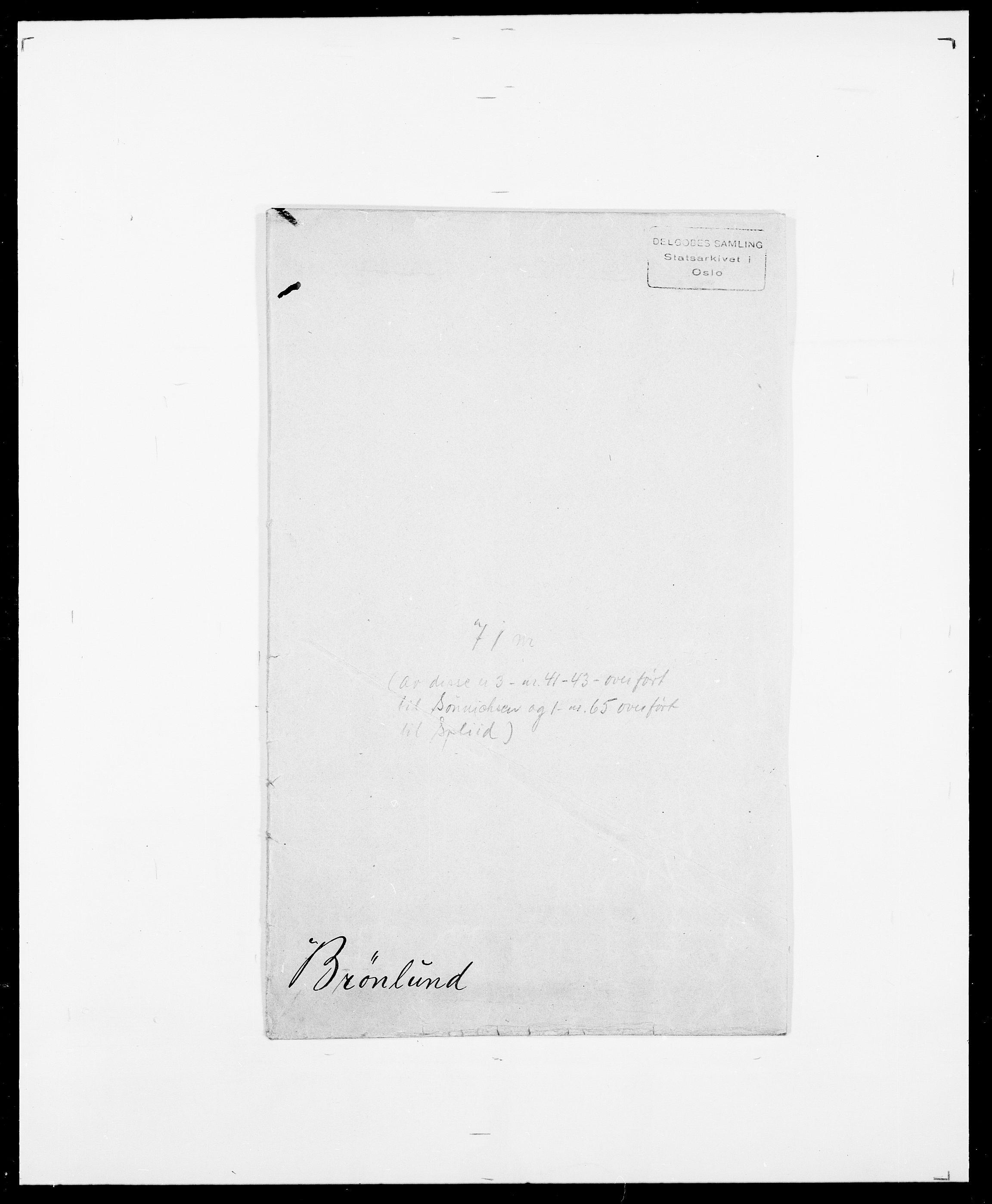 SAO, Delgobe, Charles Antoine - samling, D/Da/L0006: Brambani - Brønø, s. 974