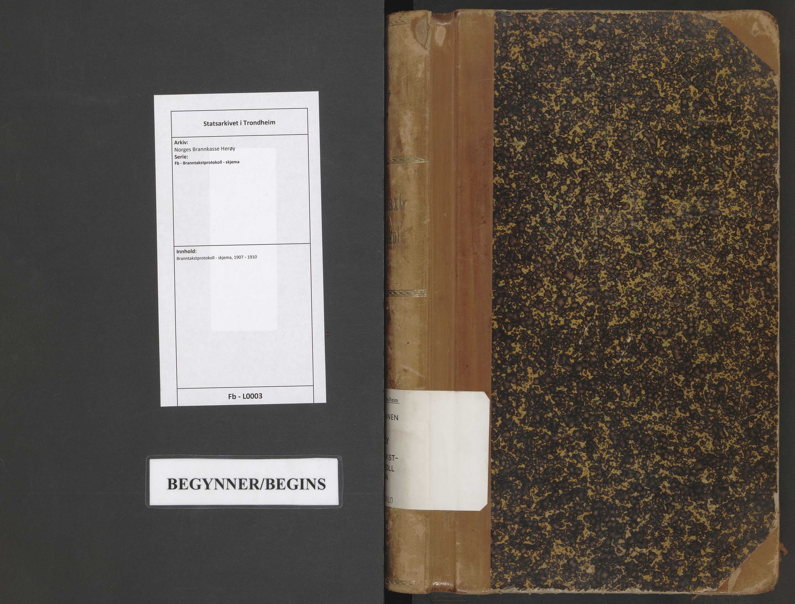 SAT, Norges Brannkasse Herøy, Fb/L0003: Branntakstprotokoll - skjema, 1907-1910