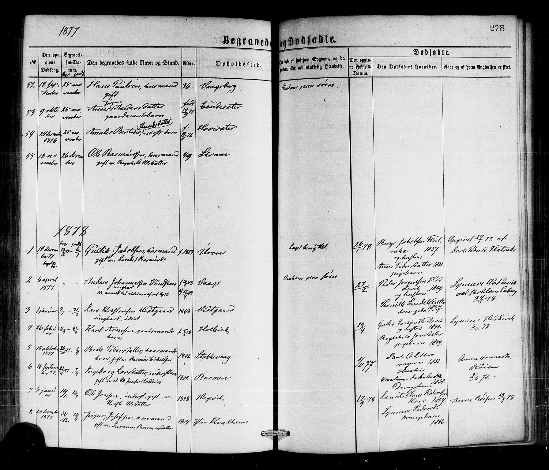 SAB, Selje sokneprestembete*, Ministerialbok nr. A 12, 1870-1880, s. 278