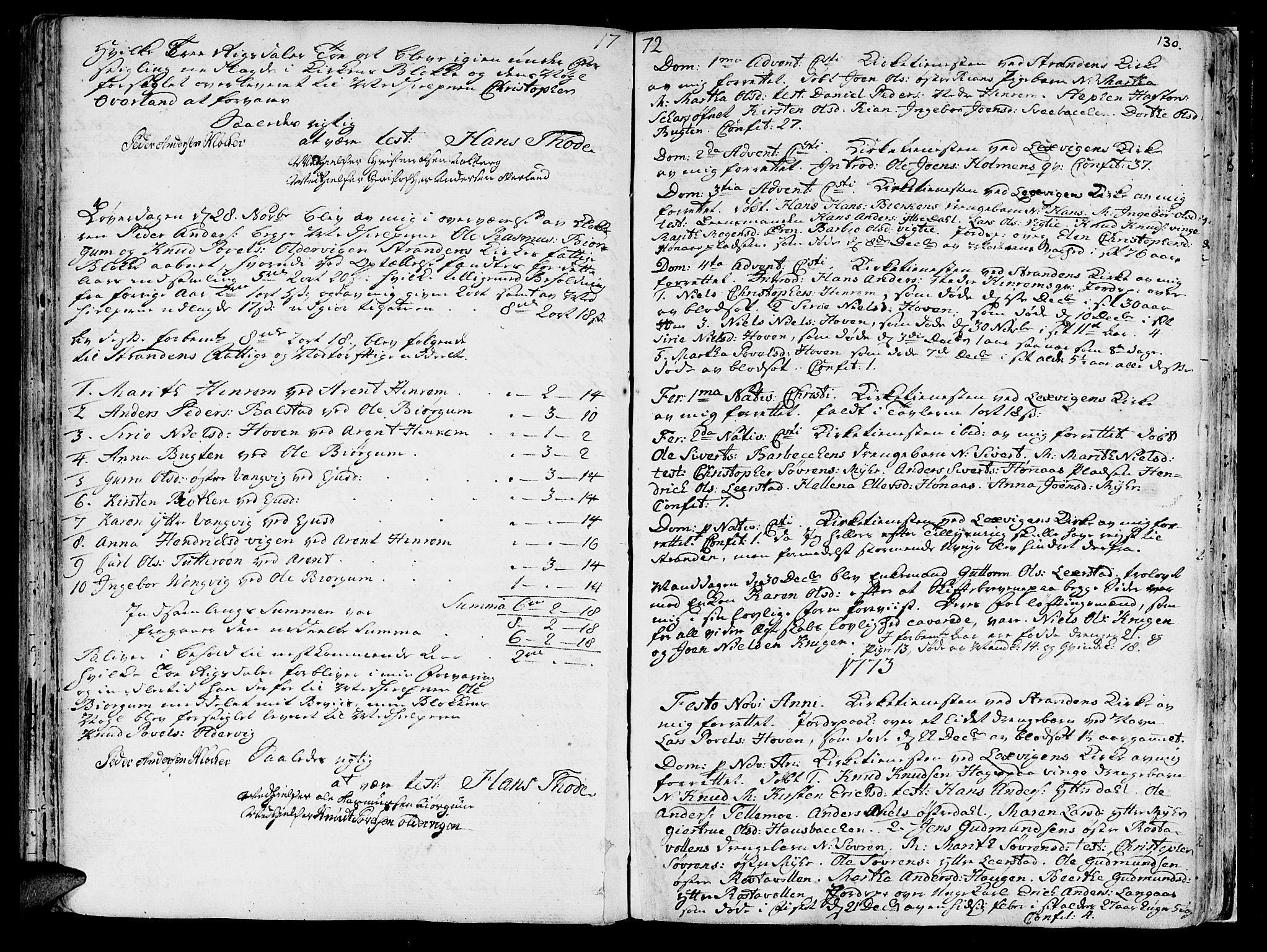 SAT, Ministerialprotokoller, klokkerbøker og fødselsregistre - Nord-Trøndelag, 701/L0003: Ministerialbok nr. 701A03, 1751-1783, s. 130