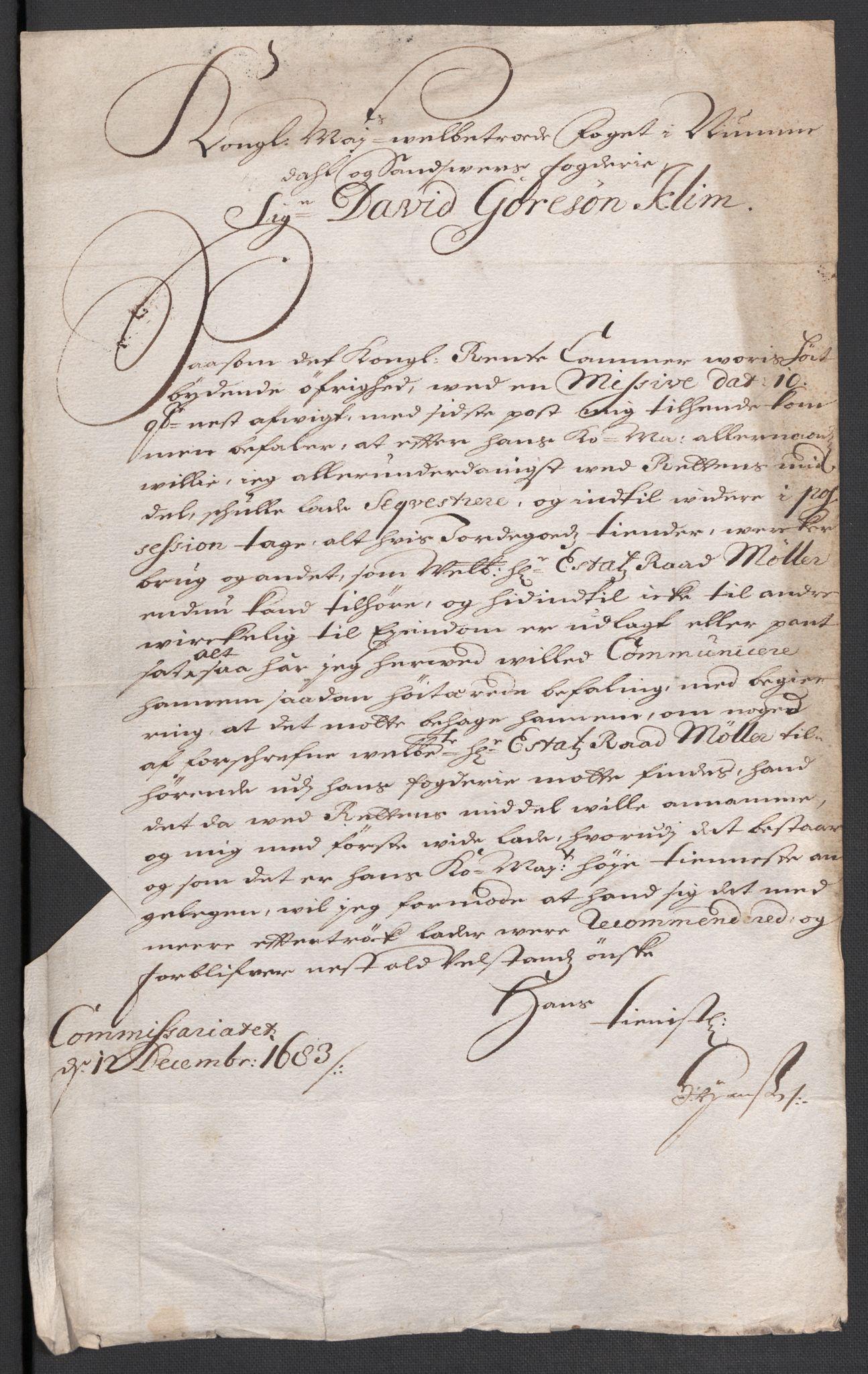 RA, Rentekammeret inntil 1814, Reviderte regnskaper, Fogderegnskap, R24/L1570: Fogderegnskap Numedal og Sandsvær, 1679-1686, s. 187