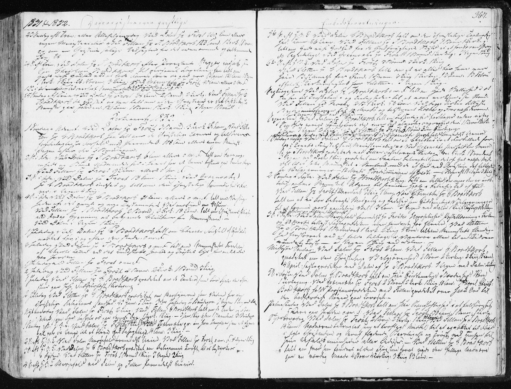SAT, Ministerialprotokoller, klokkerbøker og fødselsregistre - Sør-Trøndelag, 634/L0528: Ministerialbok nr. 634A04, 1827-1842, s. 367