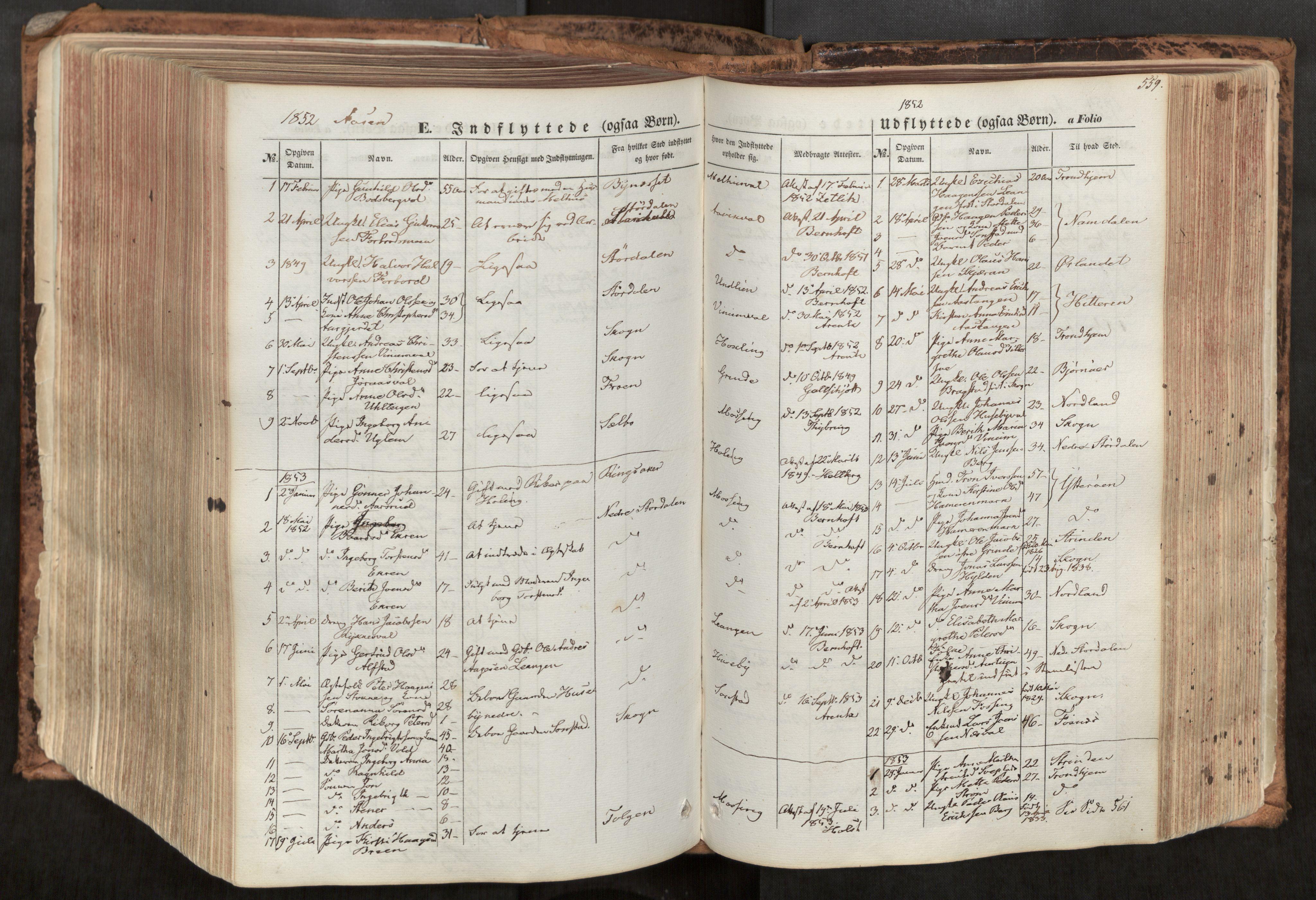 SAT, Ministerialprotokoller, klokkerbøker og fødselsregistre - Nord-Trøndelag, 713/L0116: Ministerialbok nr. 713A07, 1850-1877, s. 559