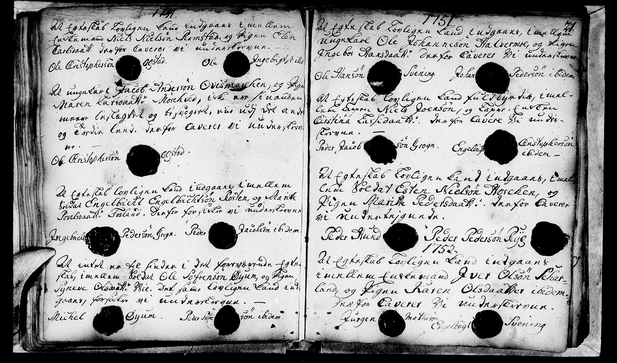 SAT, Ministerialprotokoller, klokkerbøker og fødselsregistre - Nord-Trøndelag, 764/L0541: Ministerialbok nr. 764A01, 1745-1758, s. 21