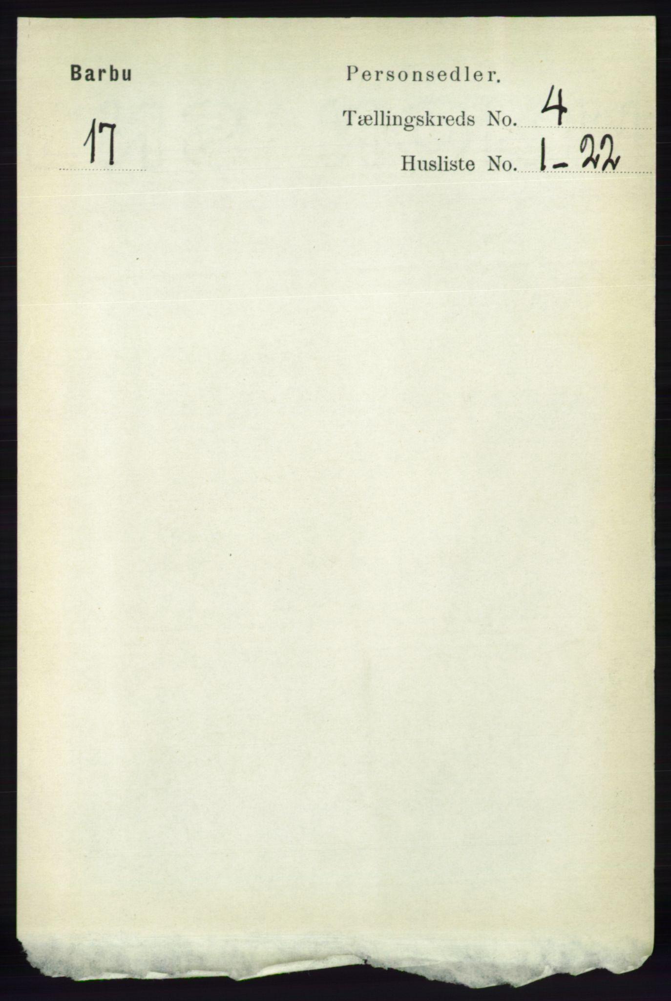 RA, Folketelling 1891 for 0990 Barbu herred, 1891, s. 2440