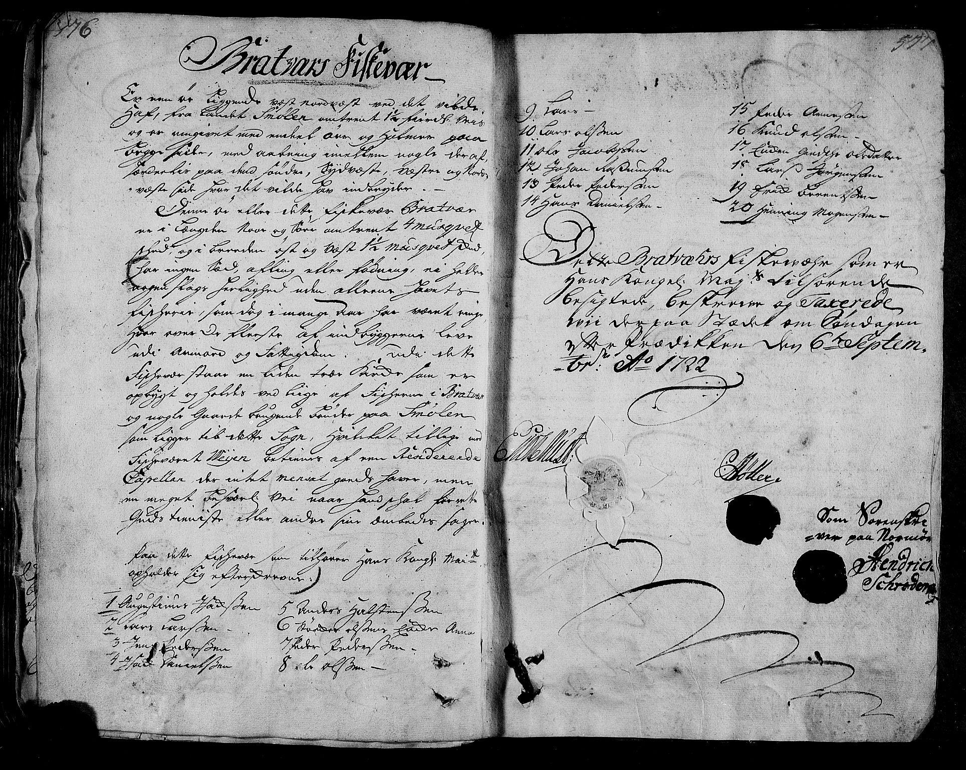 RA, Rentekammeret inntil 1814, Realistisk ordnet avdeling, N/Nb/Nbf/L0154: Nordmøre eksaminasjonsprotokoll, 1721-1723, s. 576-577