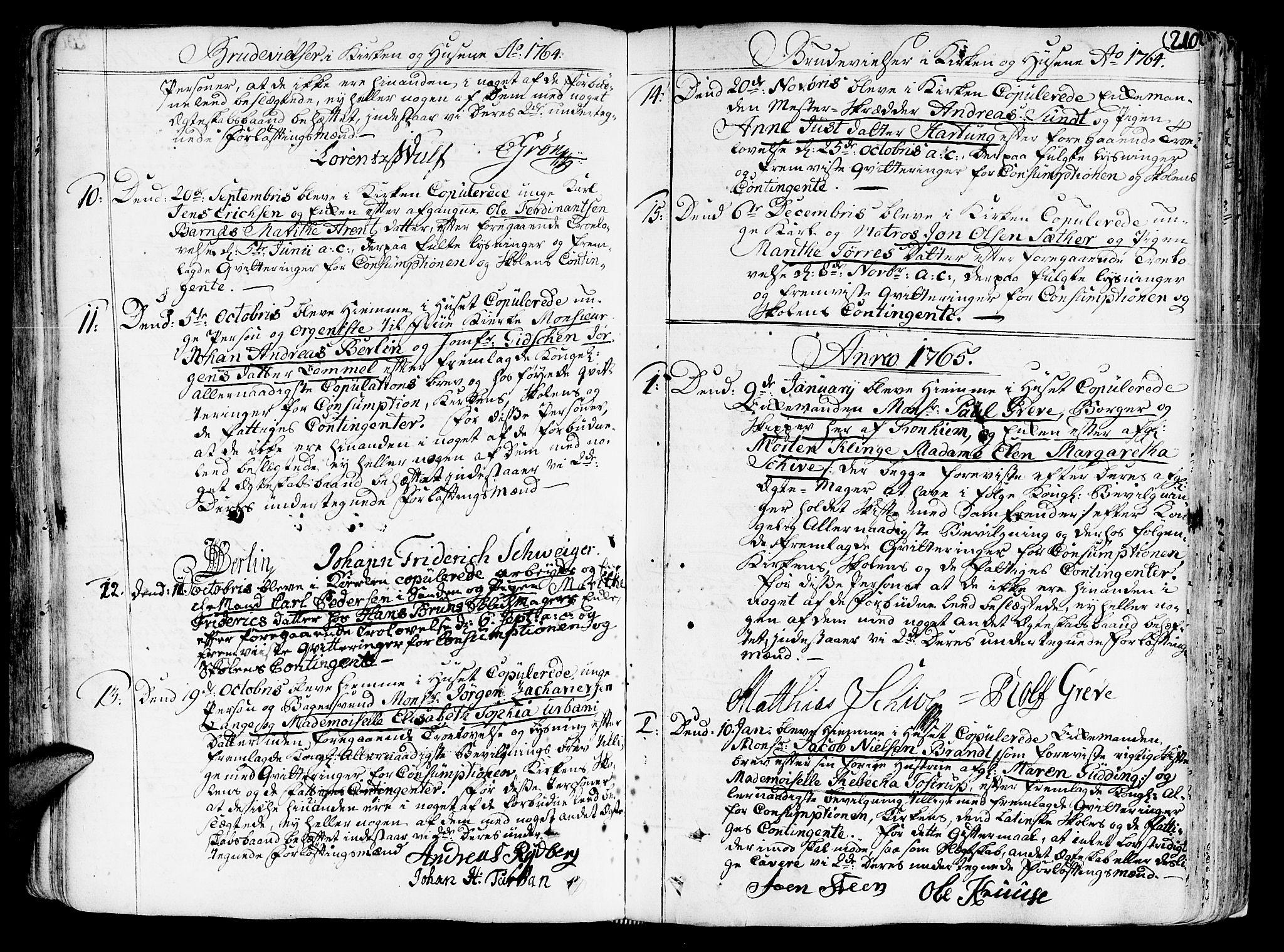 SAT, Ministerialprotokoller, klokkerbøker og fødselsregistre - Sør-Trøndelag, 602/L0103: Ministerialbok nr. 602A01, 1732-1774, s. 210