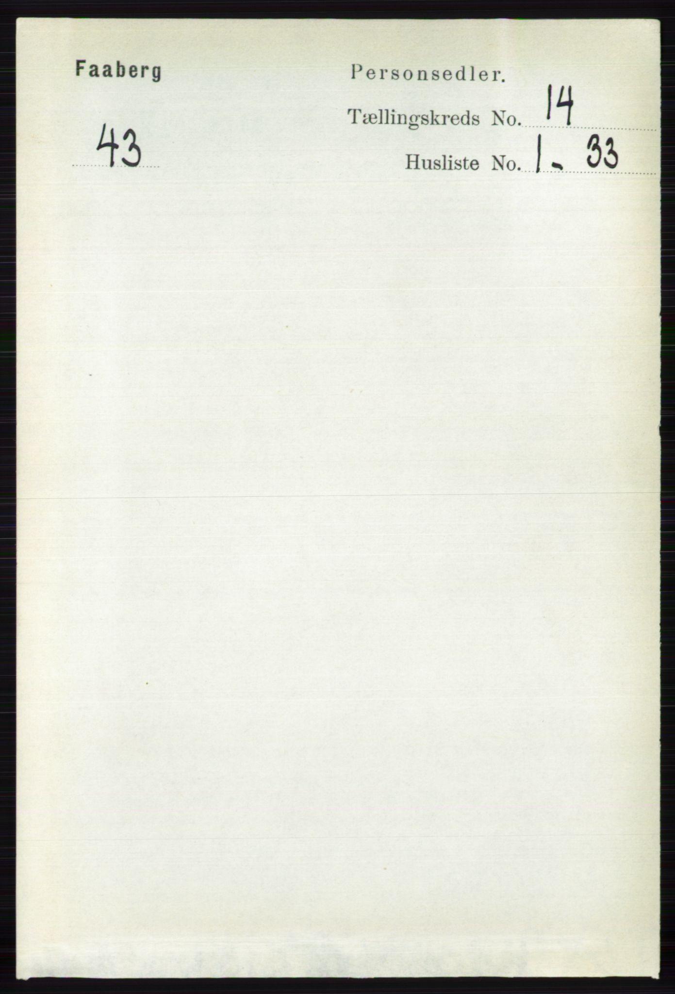 RA, Folketelling 1891 for 0524 Fåberg herred, 1891, s. 5657