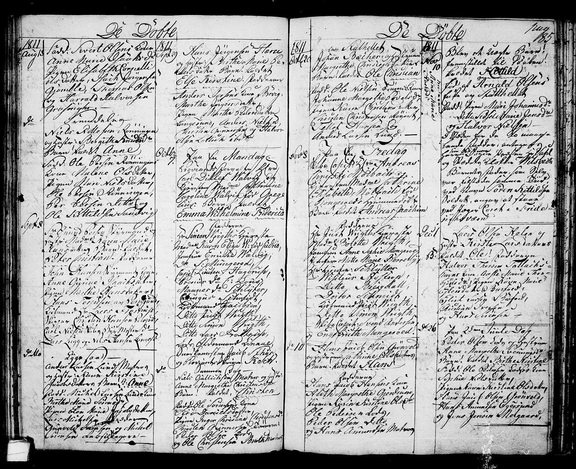 SAKO, Langesund kirkebøker, G/Ga/L0002: Klokkerbok nr. 2, 1801-1815, s. 85