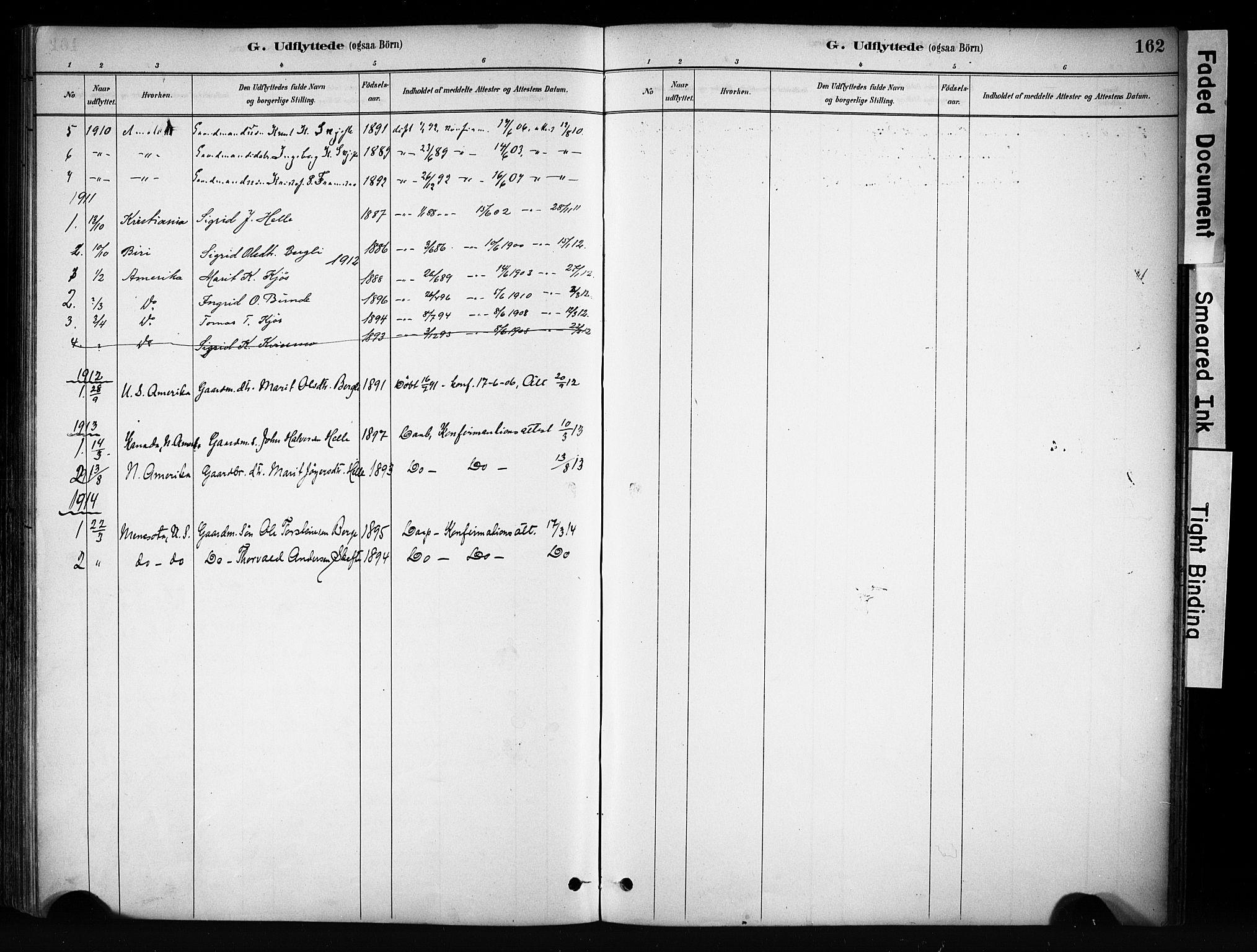 SAH, Vang prestekontor, Valdres, Ministerialbok nr. 9, 1882-1914, s. 162