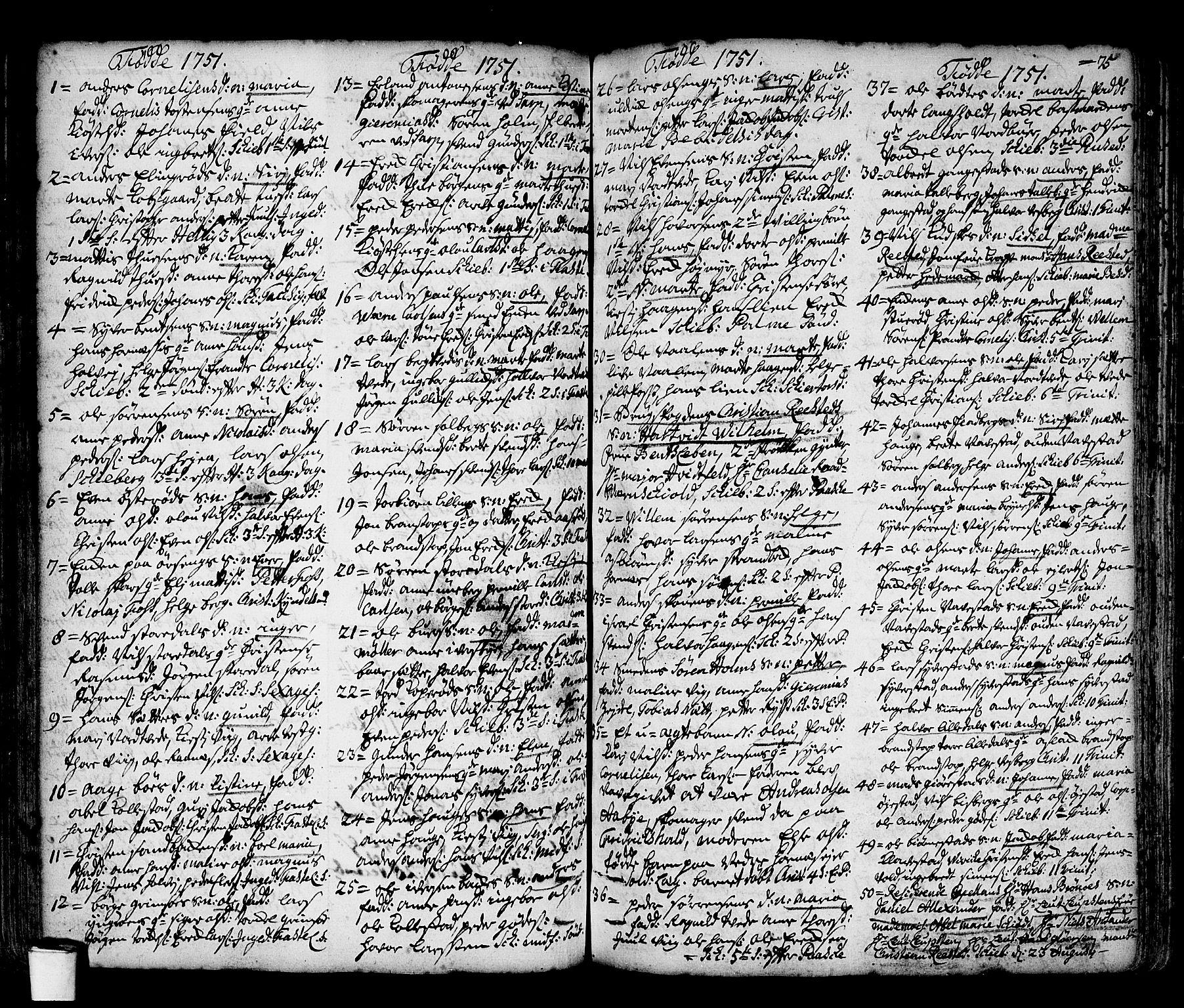 SAO, Skjeberg prestekontor Kirkebøker, F/Fa/L0002: Ministerialbok nr. I 2, 1726-1791, s. 75