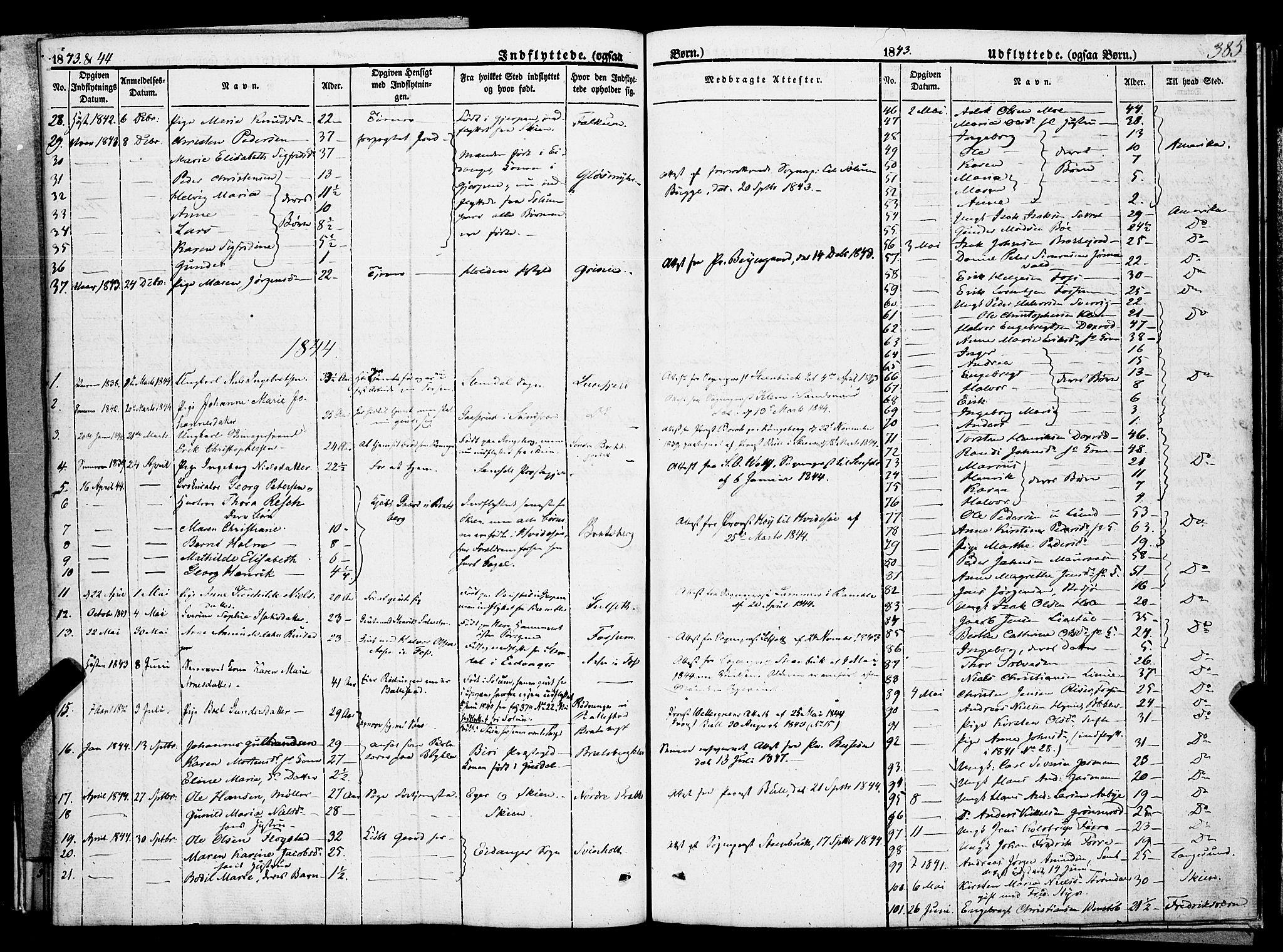 SAKO, Gjerpen kirkebøker, F/Fa/L0007b: Ministerialbok nr. 7B, 1834-1857, s. 385