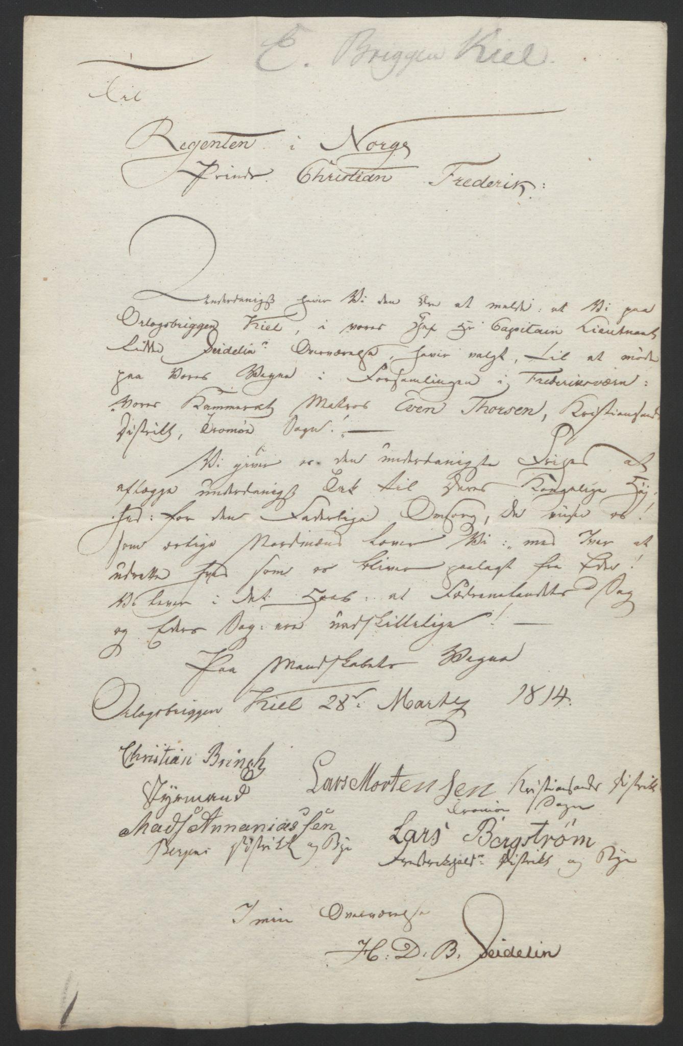 RA, Statsrådssekretariatet, D/Db/L0007: Fullmakter for Eidsvollsrepresentantene i 1814. , 1814, s. 133