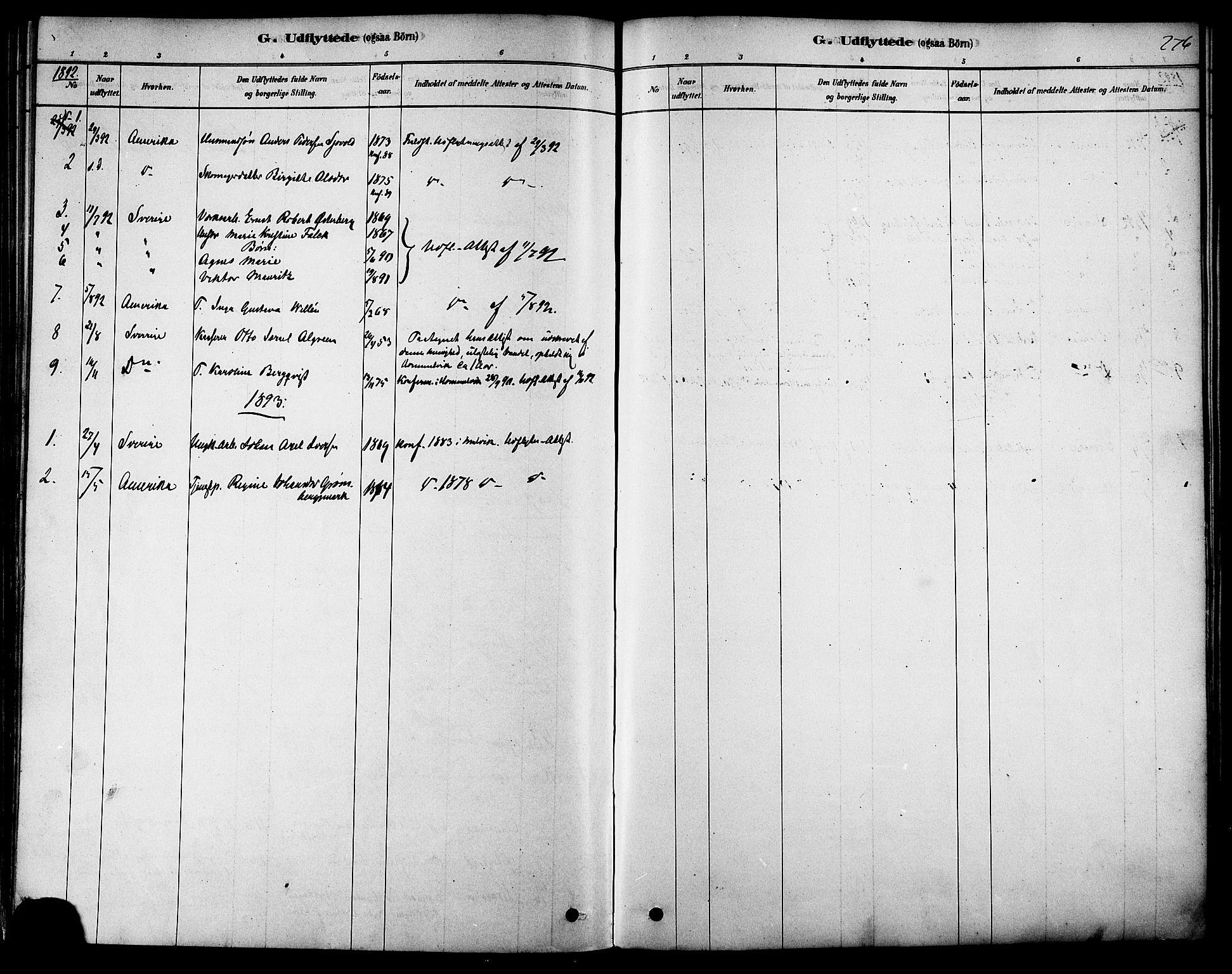 SAT, Ministerialprotokoller, klokkerbøker og fødselsregistre - Sør-Trøndelag, 616/L0410: Ministerialbok nr. 616A07, 1878-1893, s. 276