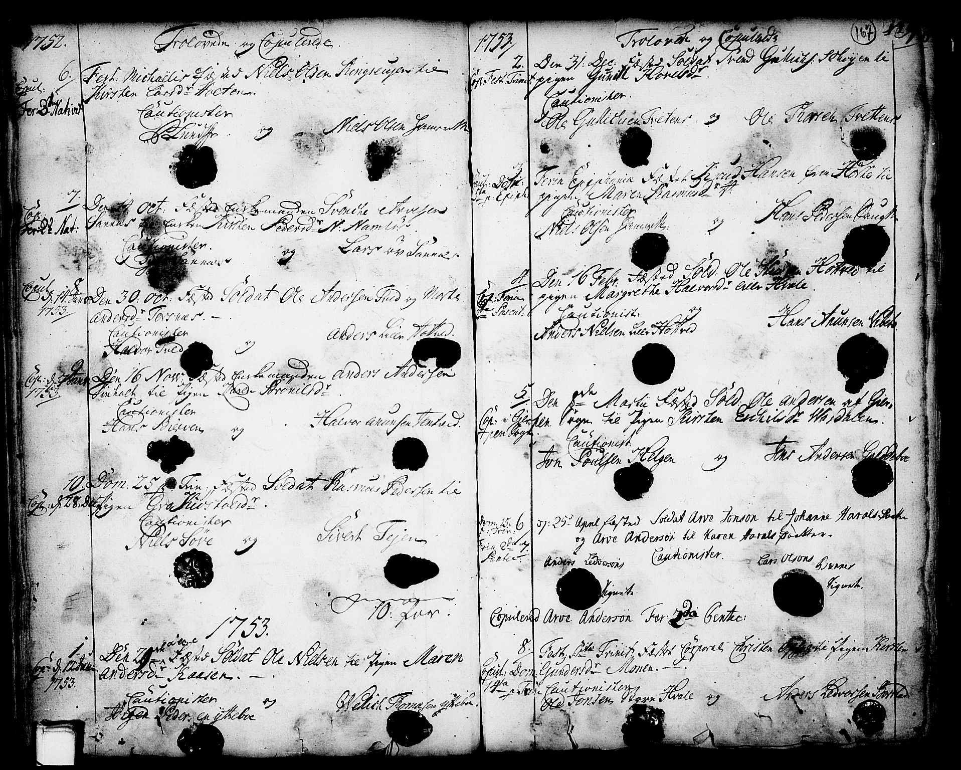 SAKO, Holla kirkebøker, F/Fa/L0001: Ministerialbok nr. 1, 1717-1779, s. 167